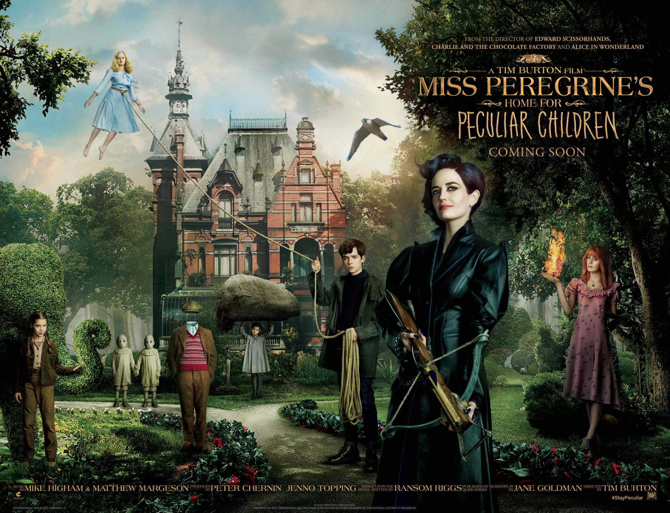 Miss Pérégrine et les enfants particuliers Tim Burton