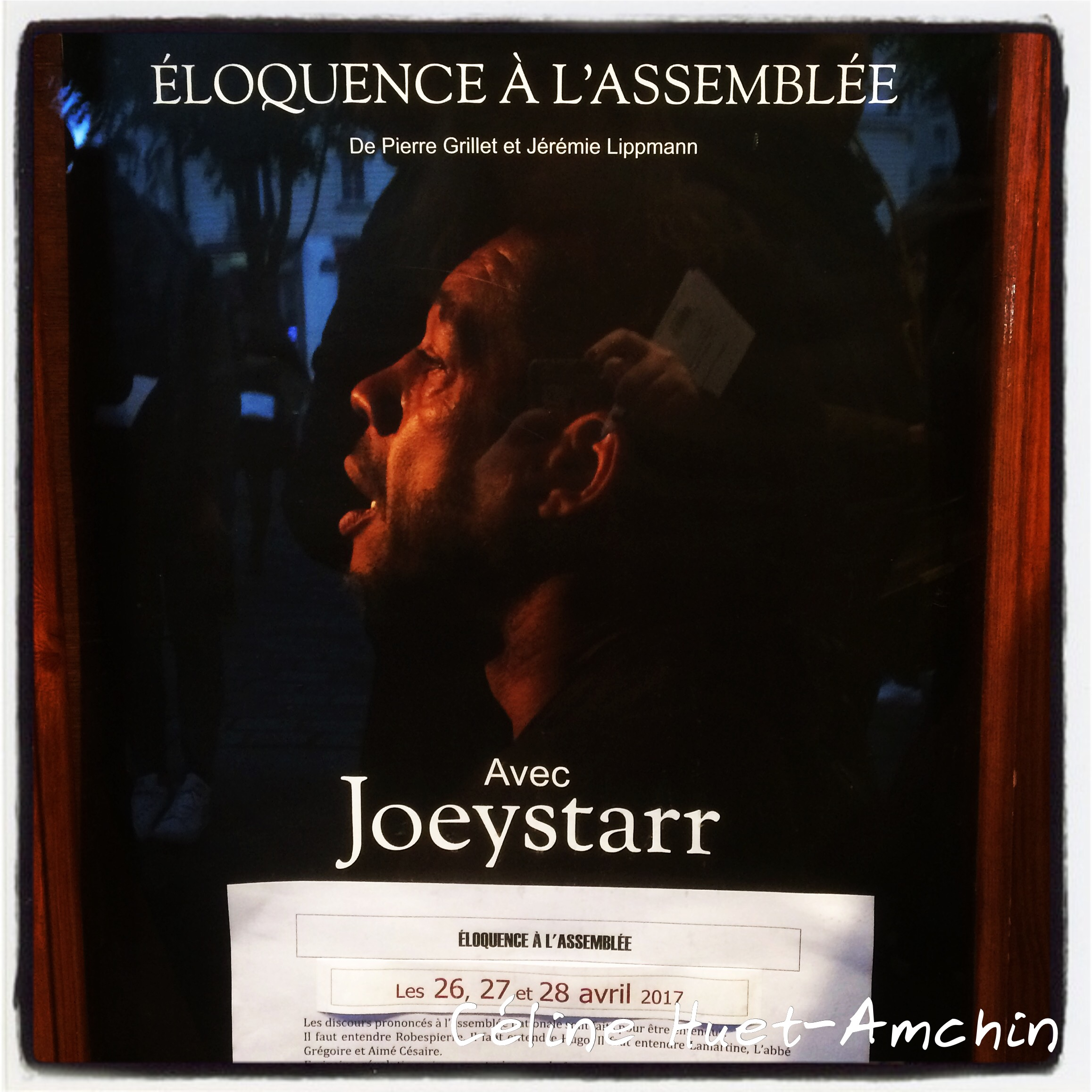 Eloquence à l'Assemblée Joey Starr Théâtre de l'Atelier