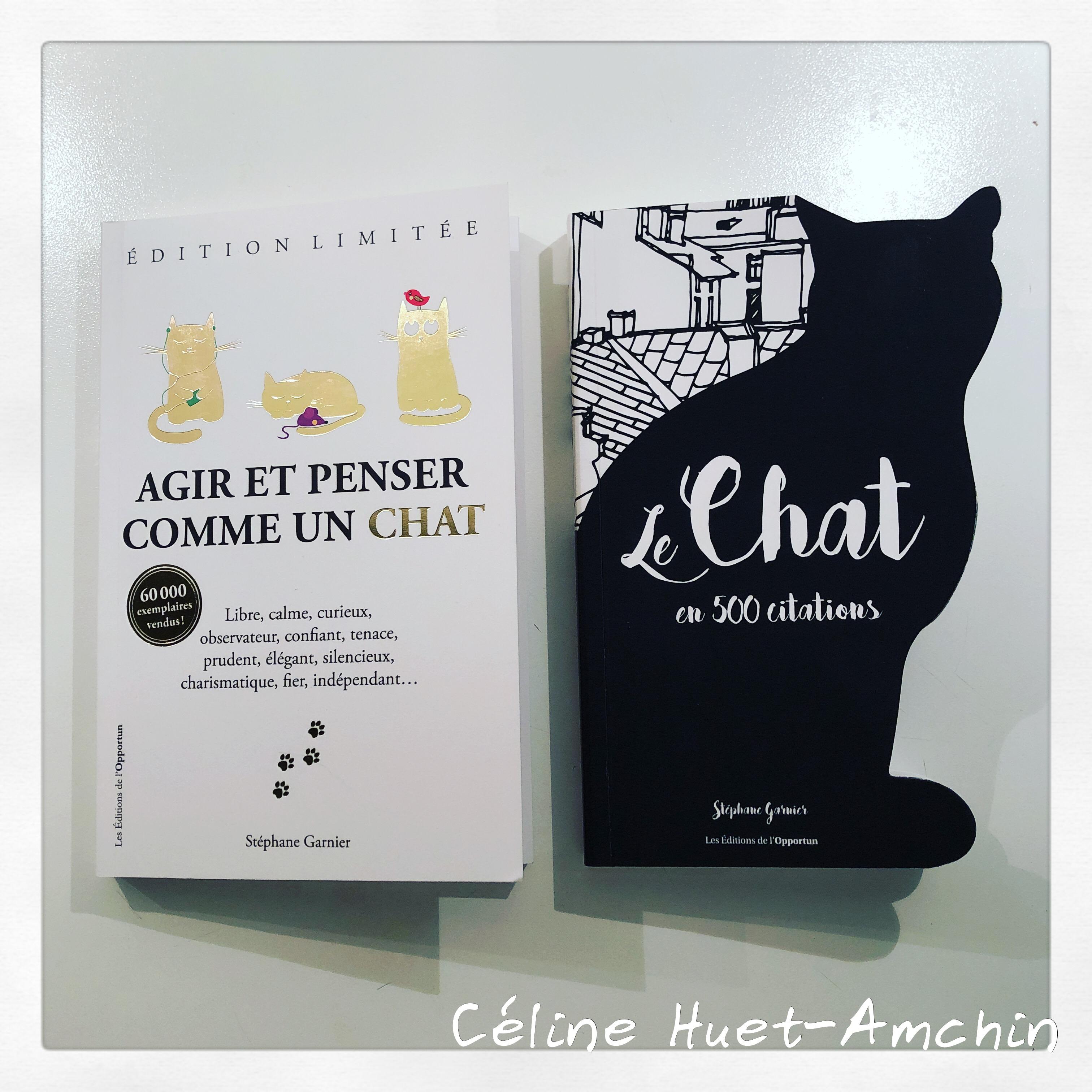 Agir et penser comme un chat Le chat en 500 citations Stéphane Garnier Editions de l'Opportun
