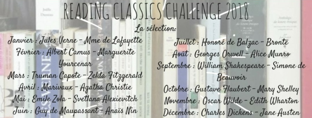 Reading Classics Challenge 2018 Lilly & Books