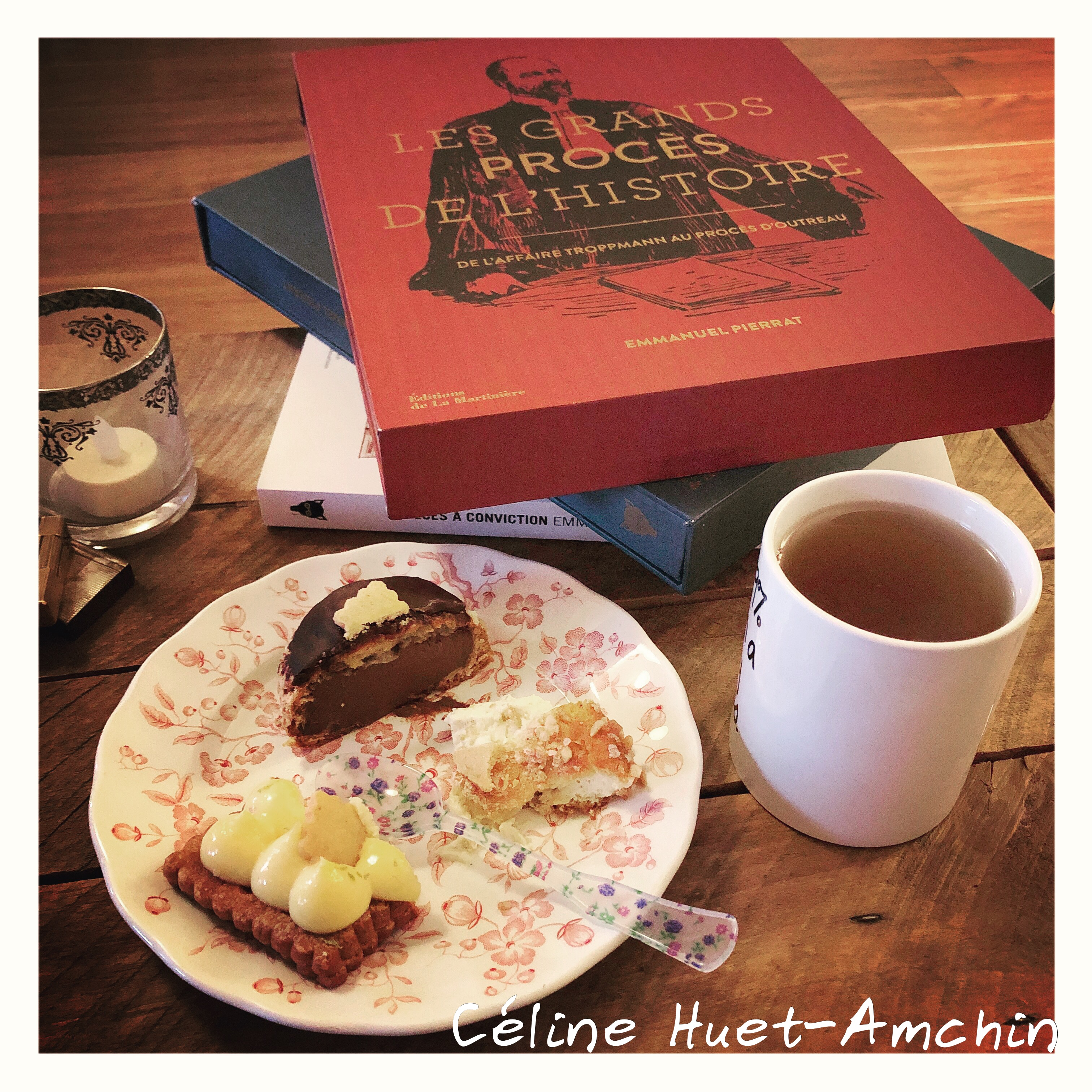Tea Time Benoit Castel at home beaux Livres Maître Emmanuel Pierrat