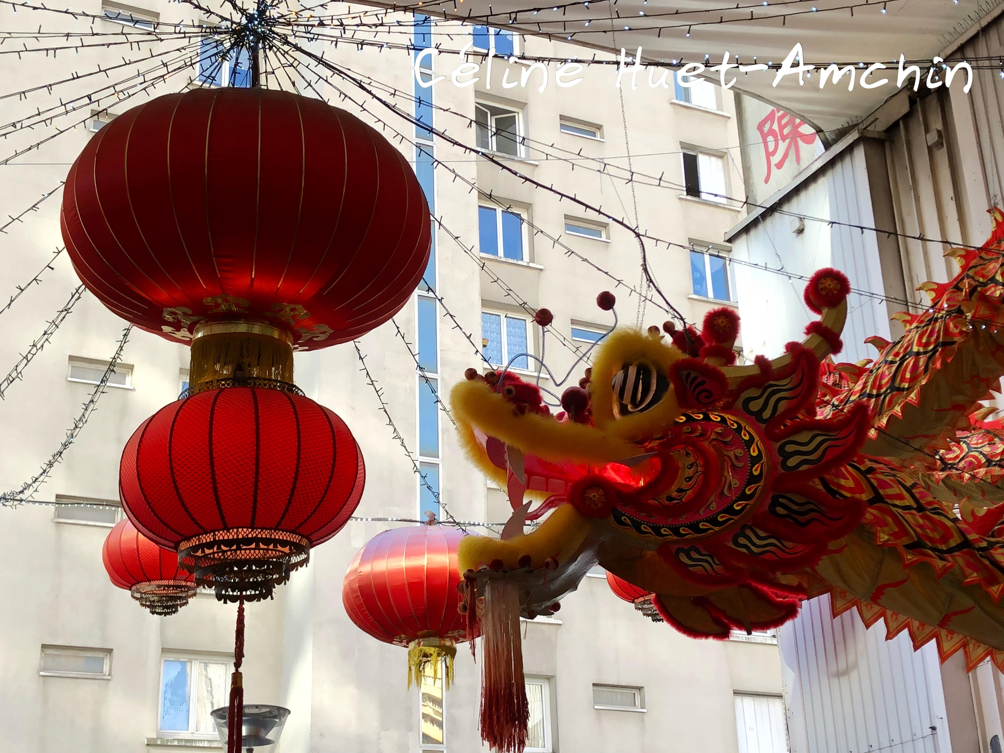 Dragon et lanternes Tang Frères Paris XIIIe