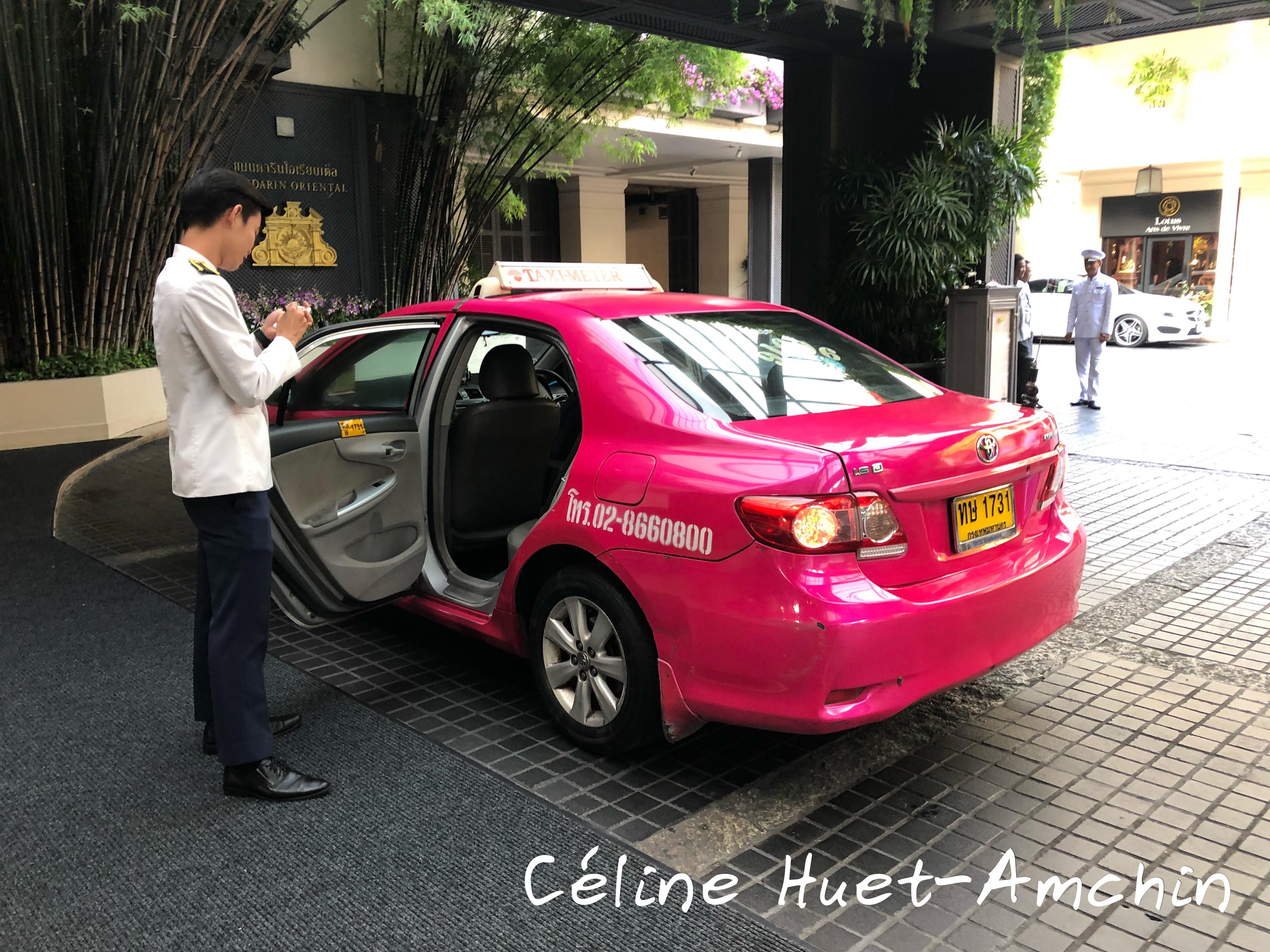 Pink Taxi Bangkok Thaïlande Asie