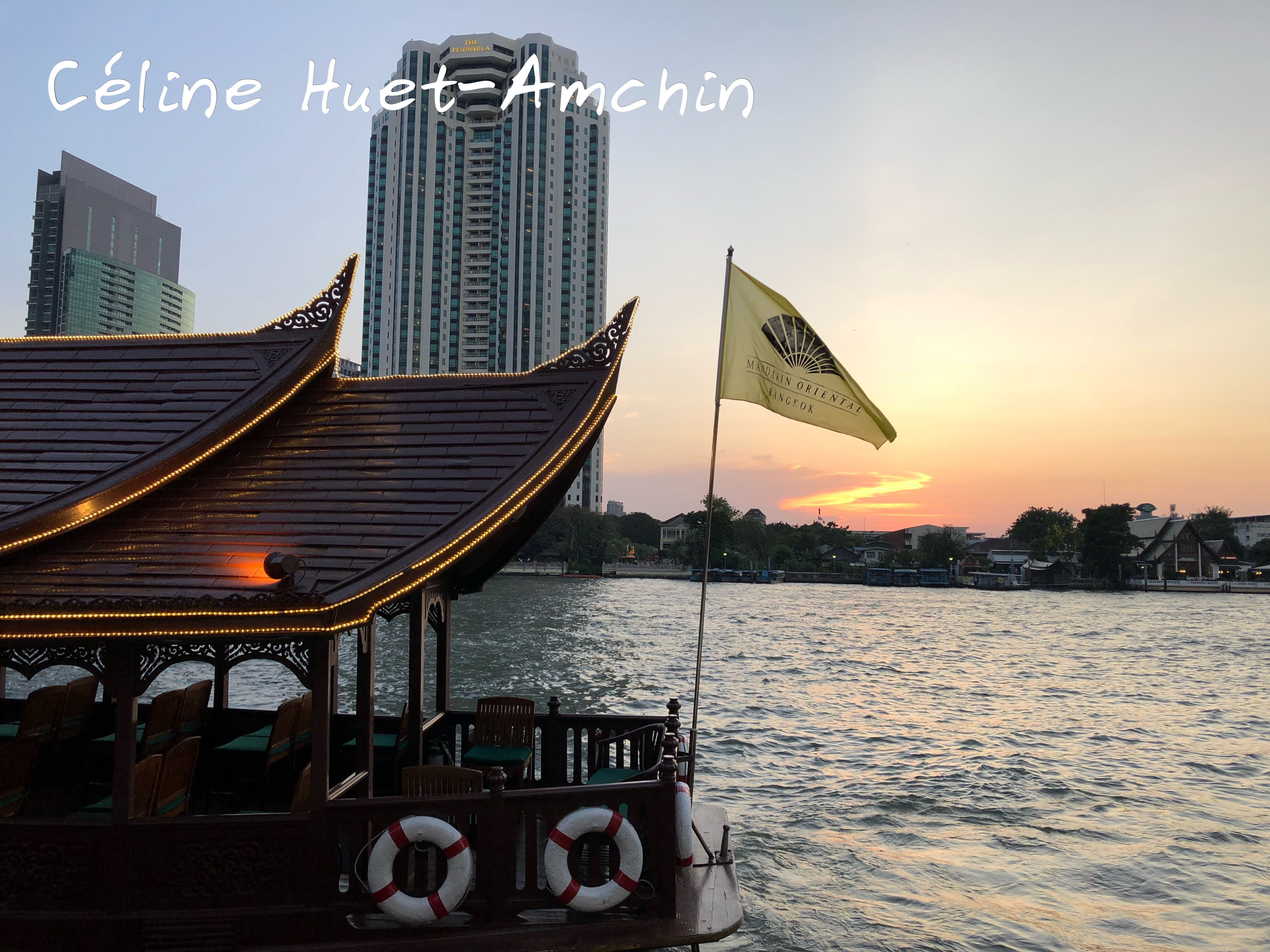 Coucher de soleil Mandarin Oriental Bangkok Thaïlande Asie