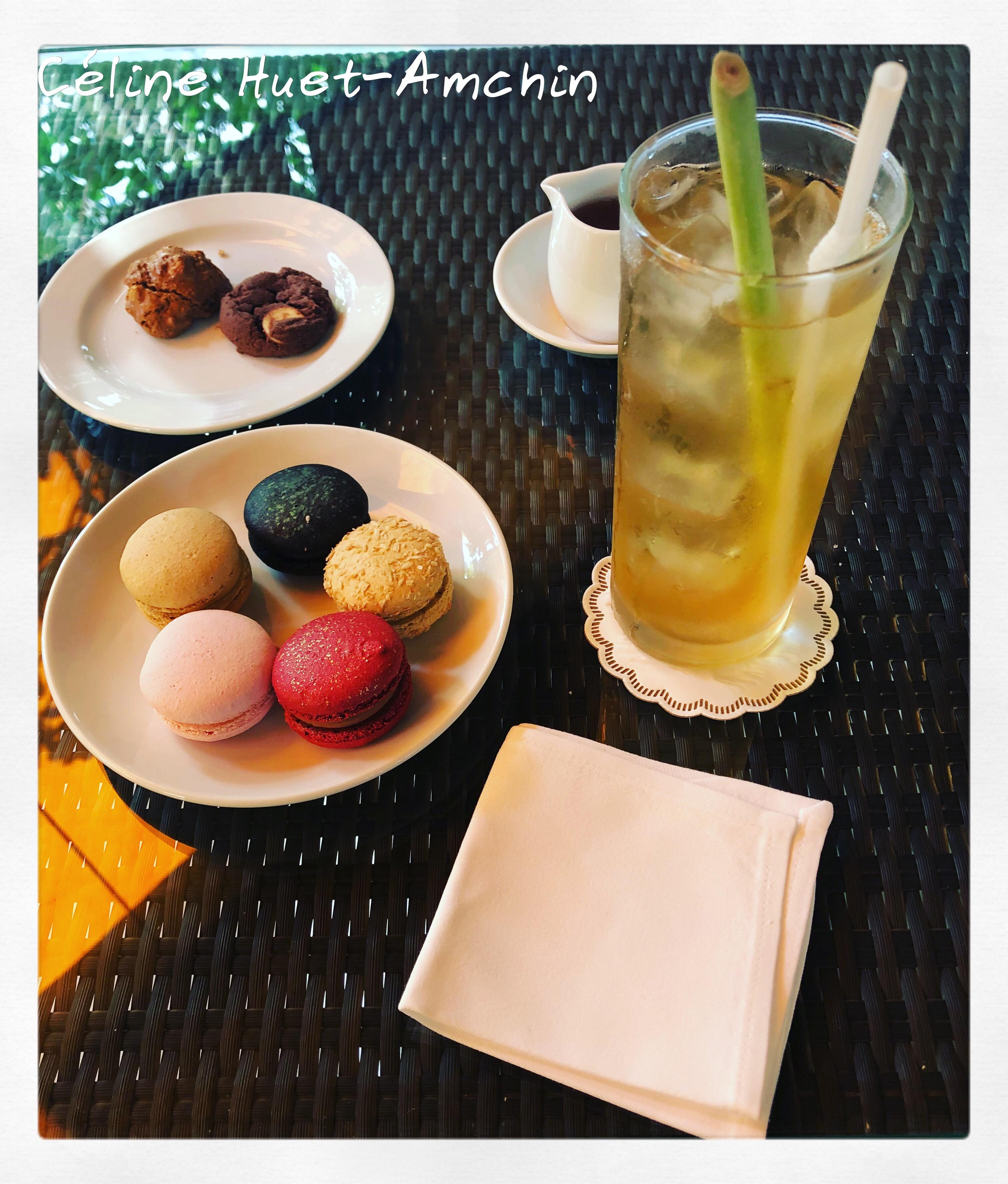 Macarons Lemongrass ice tea Mandarin Oriental Bangkok Thaïlande Asie