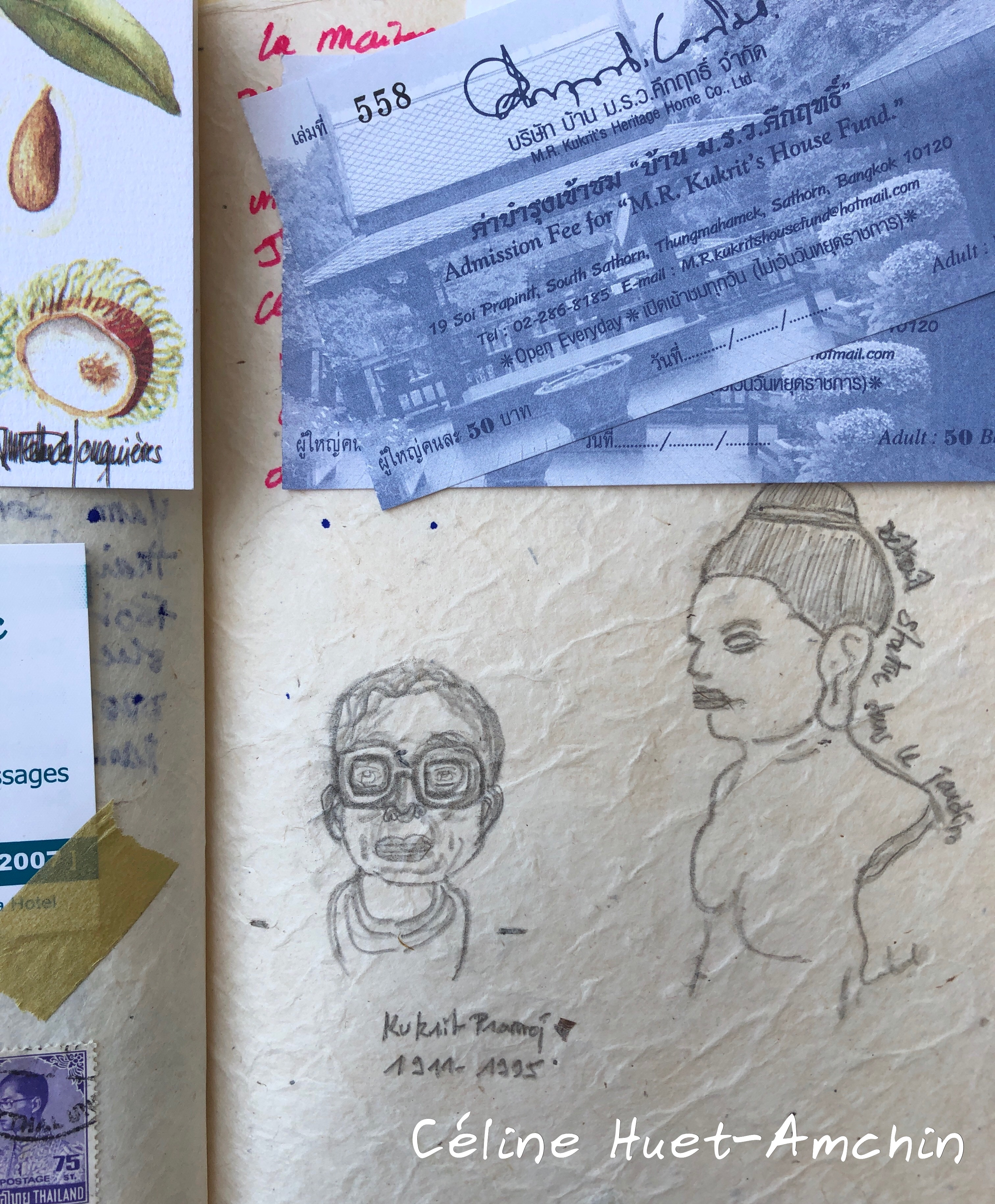 Carnet de voyage Instantanés d'Asie II Bangkok Thaïlande Asie Céline Huet-Amchin