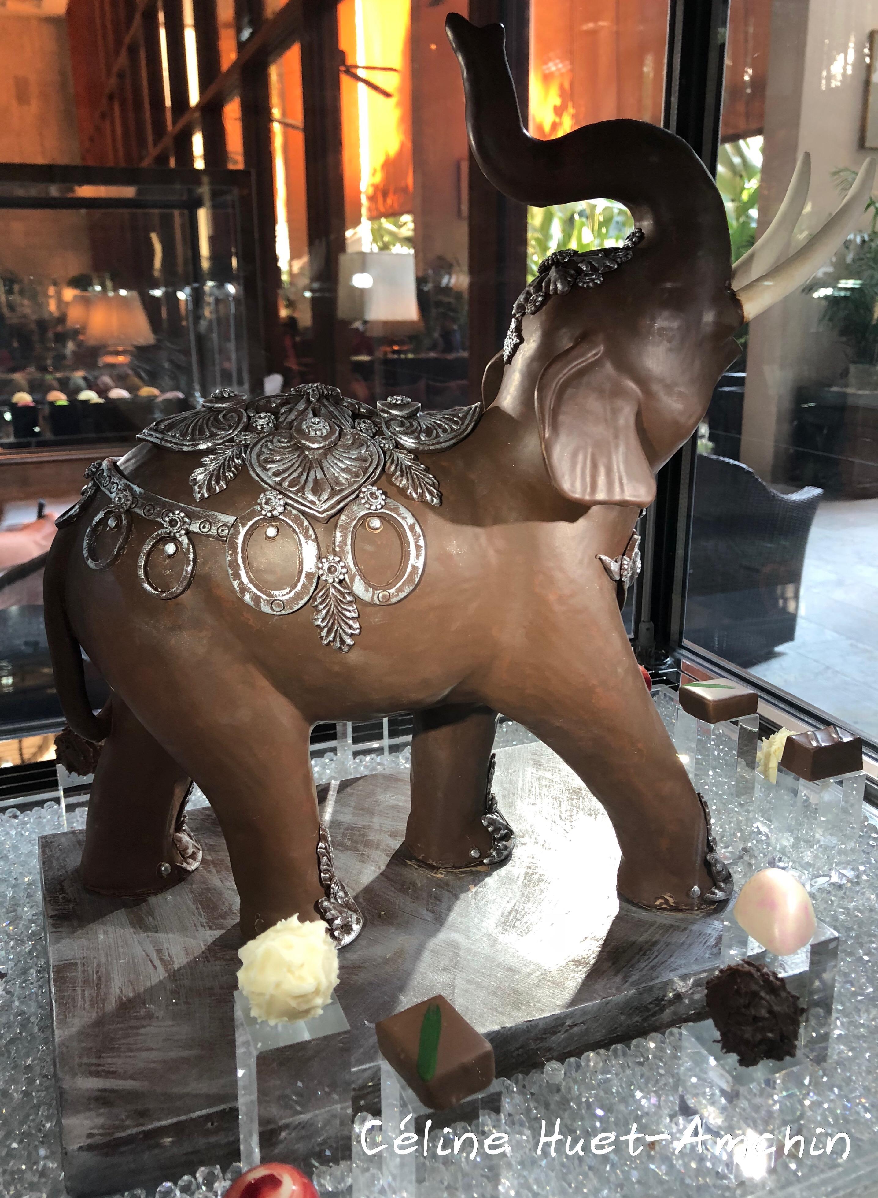 Eléphant en chocolat Mandarin Oriental Bangkok Thaïlande Asie