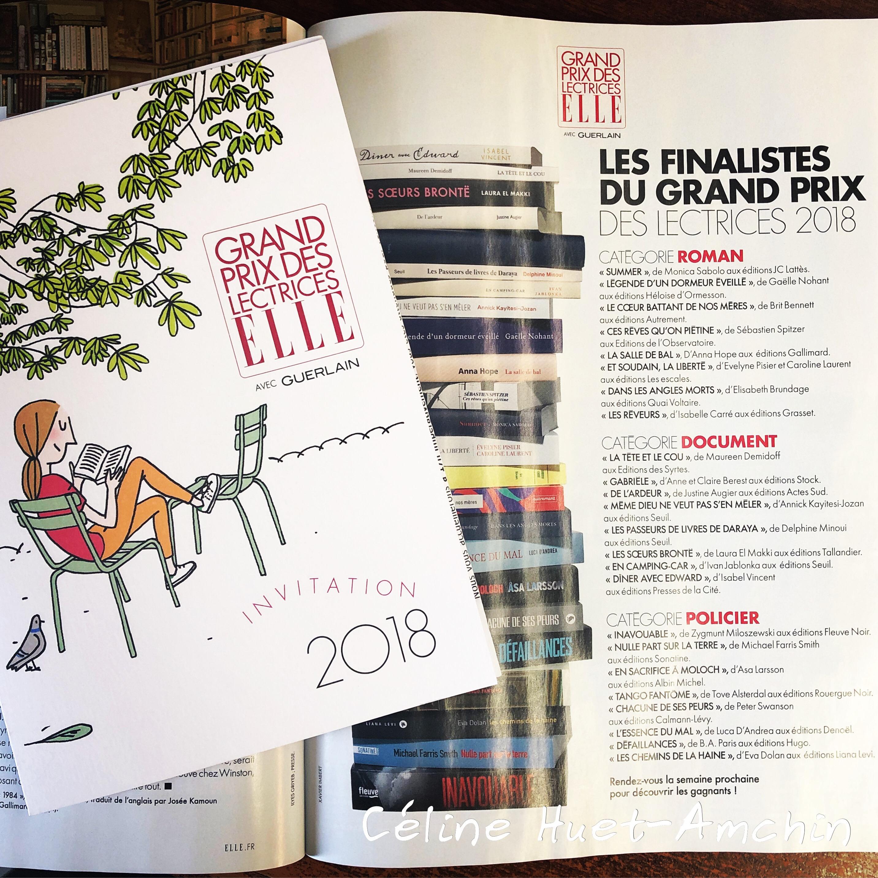 Grand Prix des Lectrices ELLE 2018