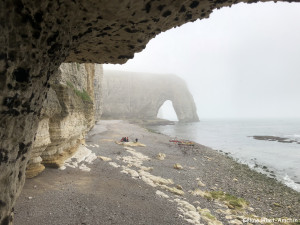 La Valleuse de Jambourg et la Manneporte Etretat Normandie