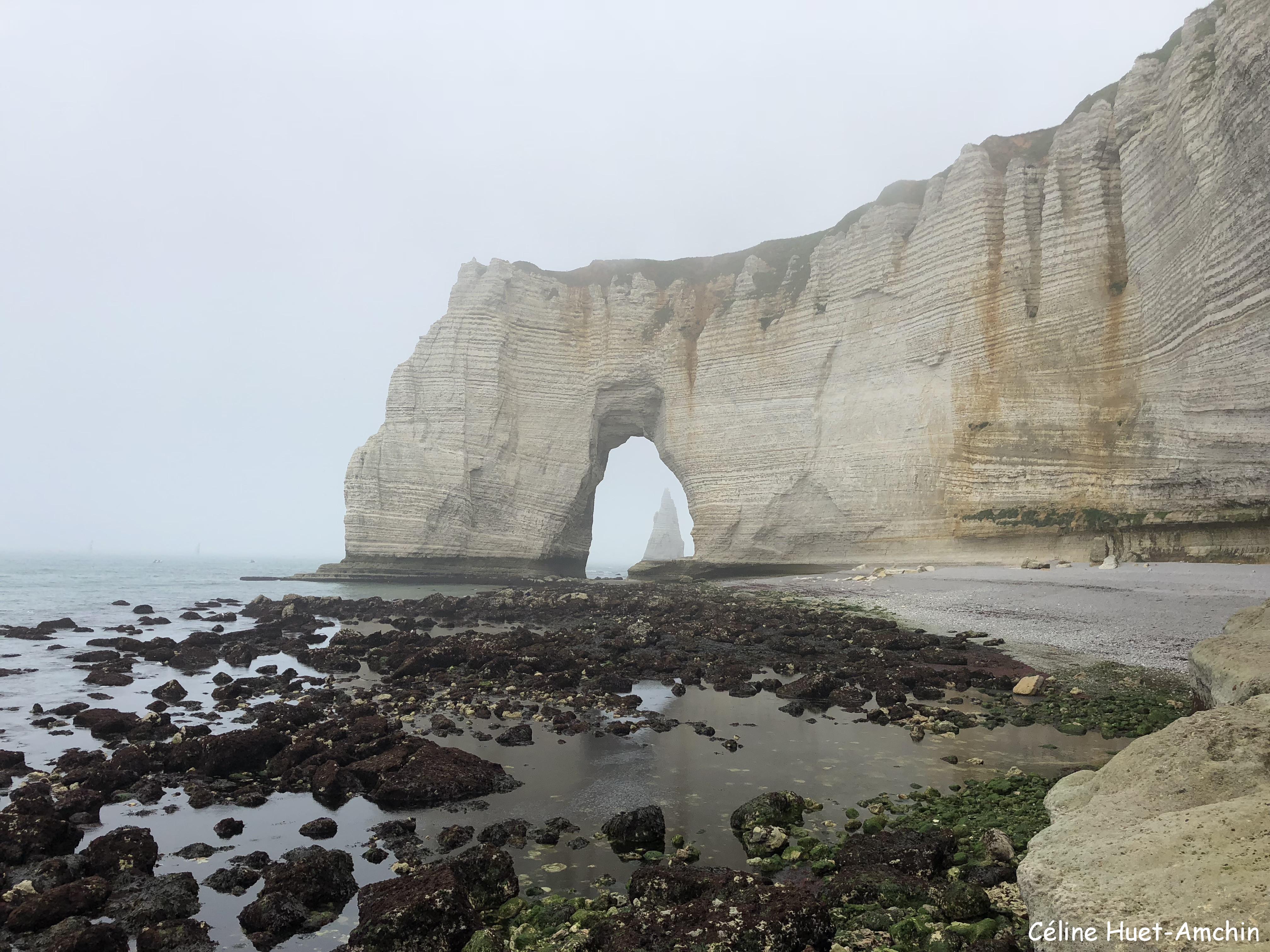 La Valleuse de Valaine la Manneporte et l'Aiguille d'Aval Etretat Normandie