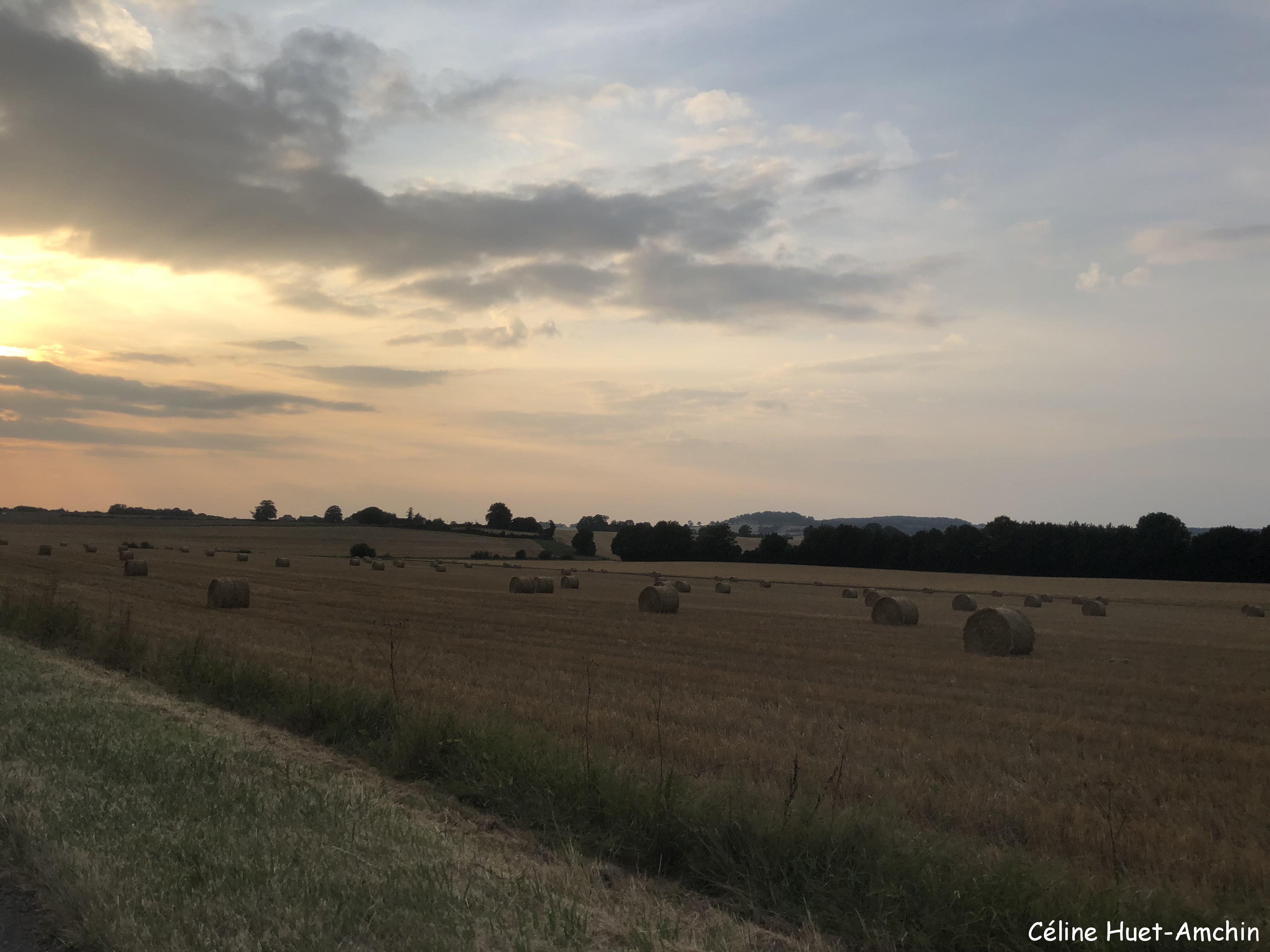 Coucher de soleil Le Perche France