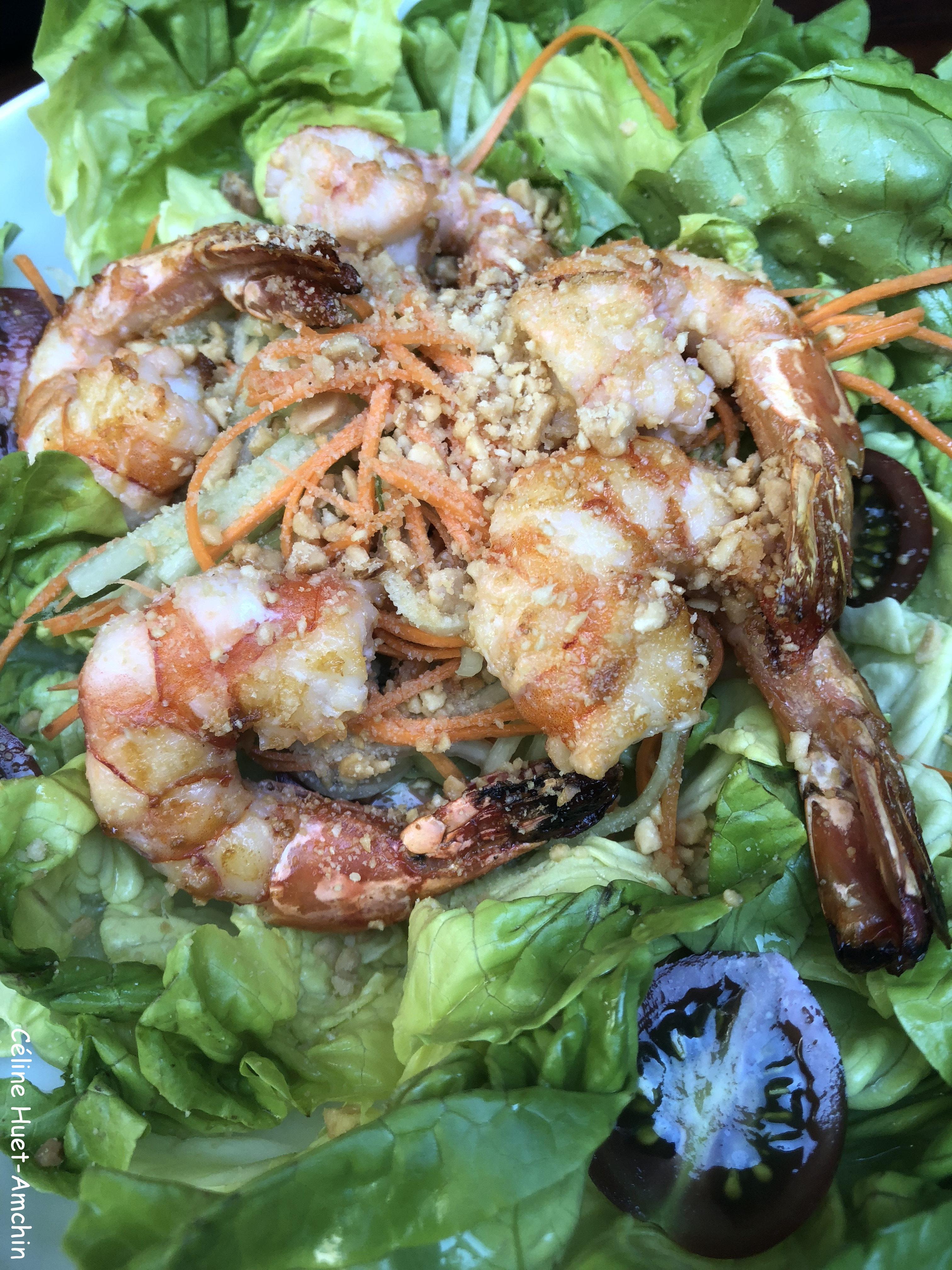 Salade thai gambas Bar 8 Mandarin Oriental Paris