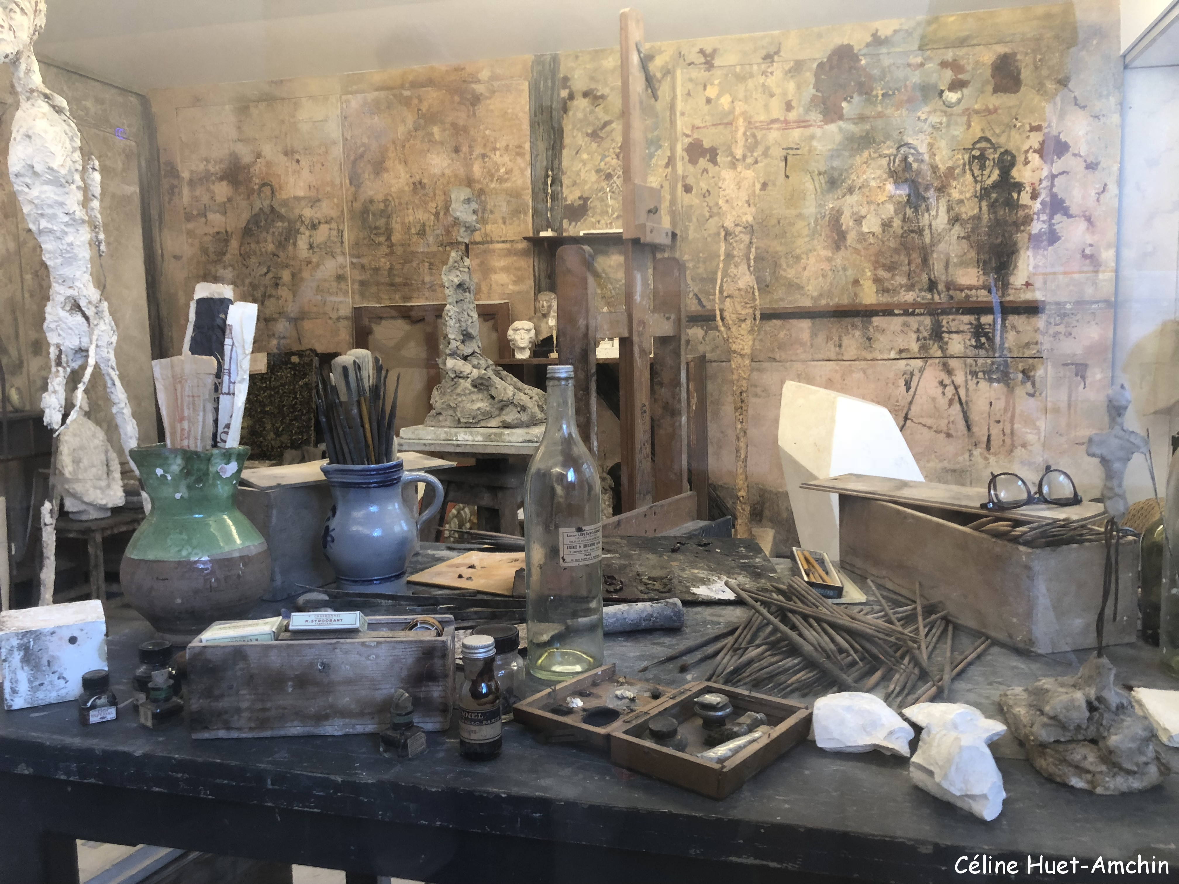 Reconstitution Atelier Giacometti Institut Giacometti Paris