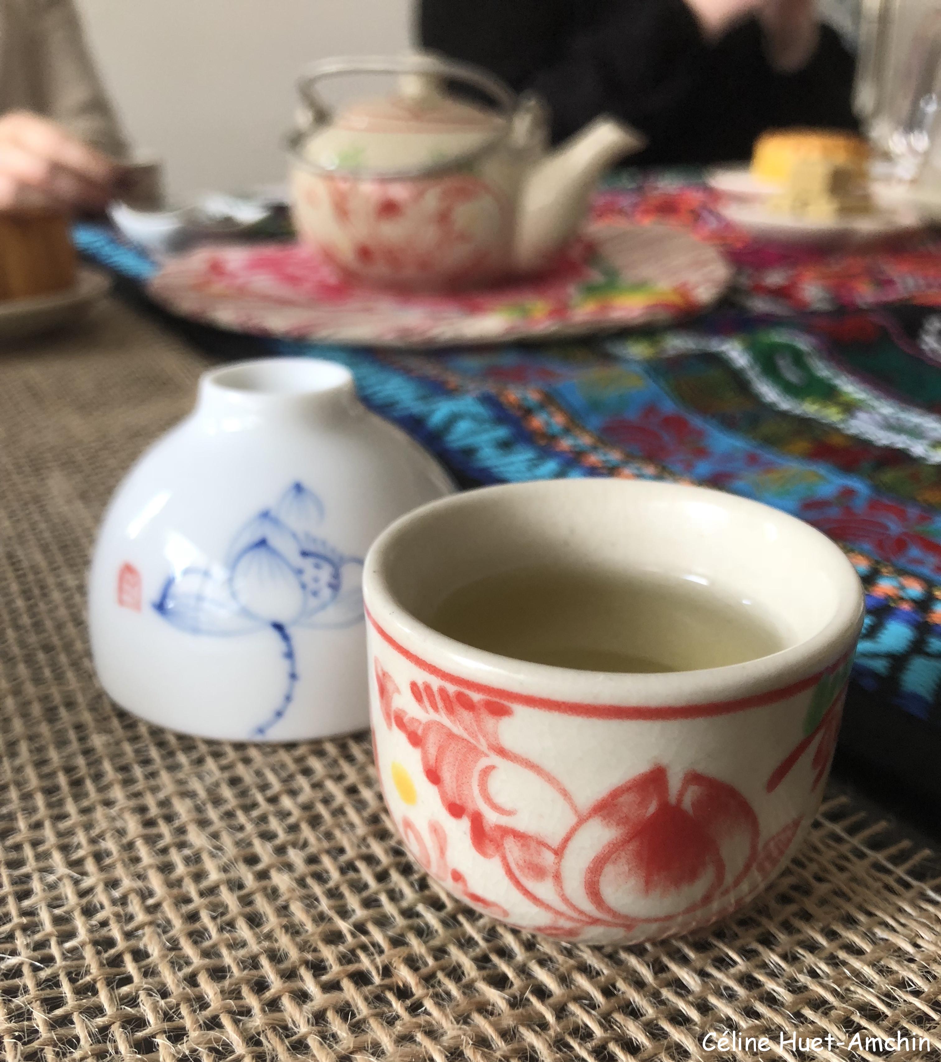 Cérémonie du thé au lotus Paris Sérendipi-Thé (2e infusion)