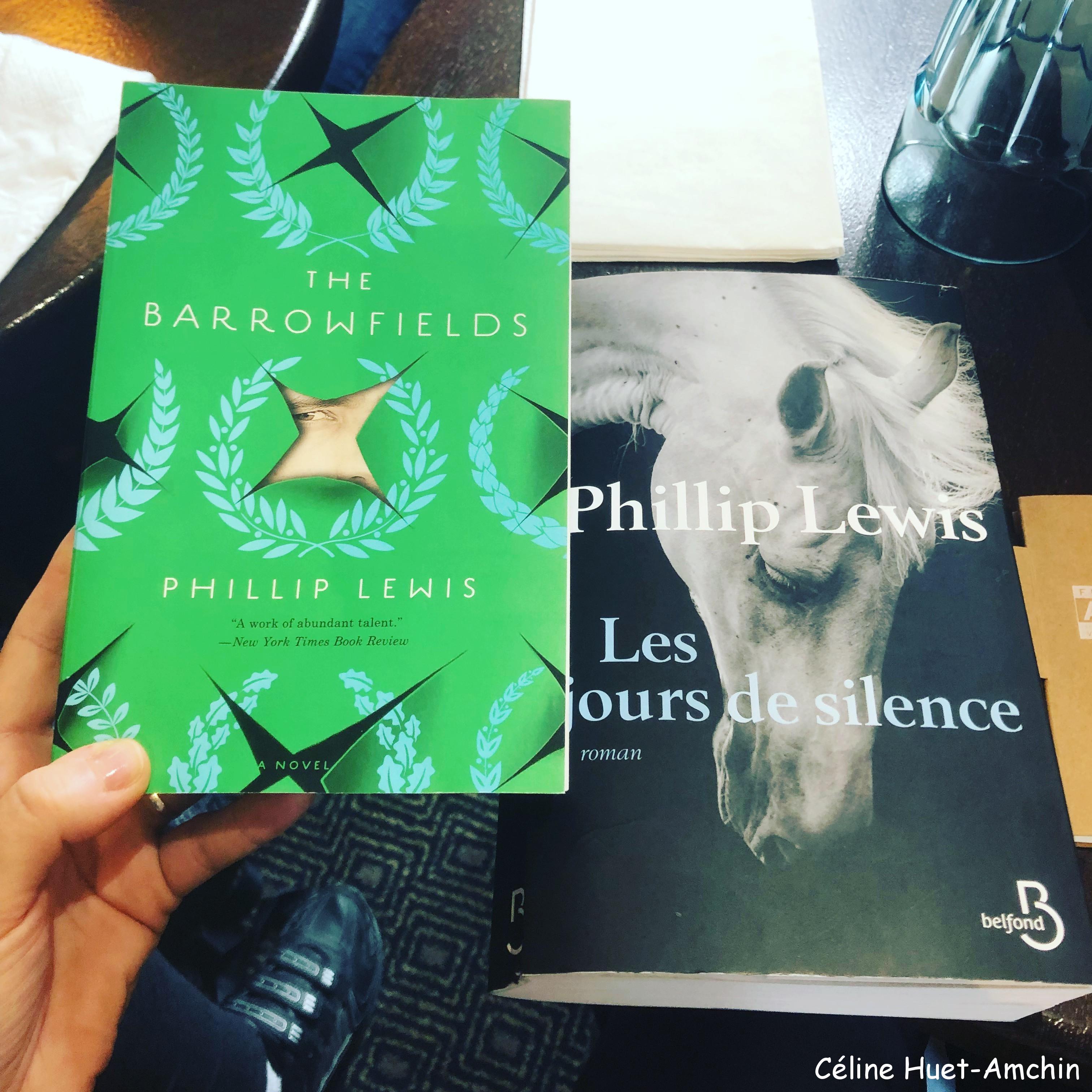 Rencontre Phillip Lewis Les jours de silence Editions Belfond 9e édition Festival America Café de La Place Vincennes