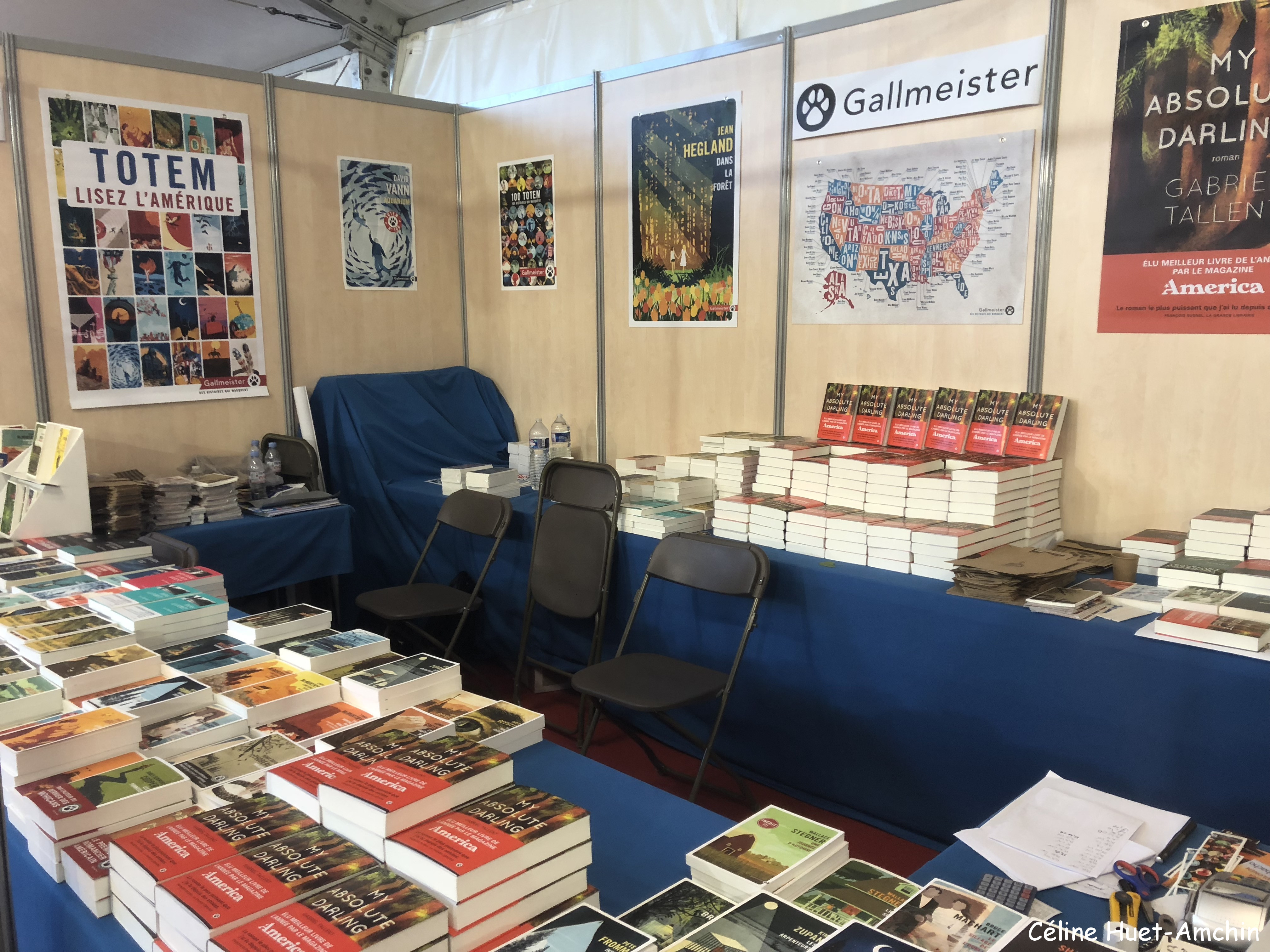 Stand Editions Gallmeister 9e édition Festival America Vincennes