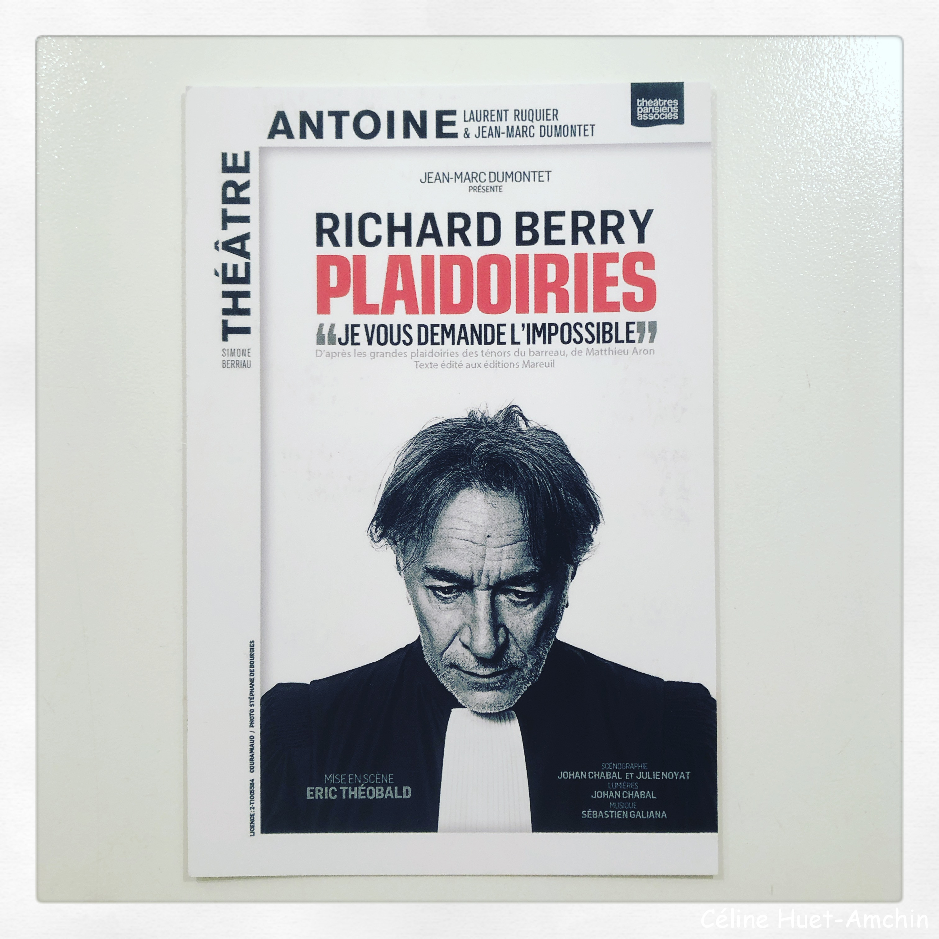 """""""Les grandes plaidoiries des ténors du barreau"""" : du livre de Matthieu Aron à la pièce """"Plaidoiries"""" au Théâtre Antoine (Paris)..."""
