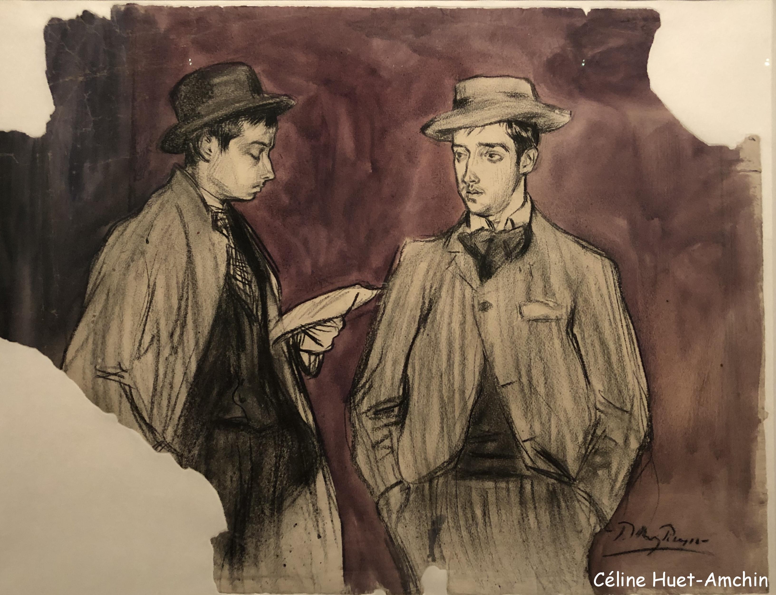 La lecture de la lettre Exposition Picasso bleu et rose Musée d'Orsay Paris