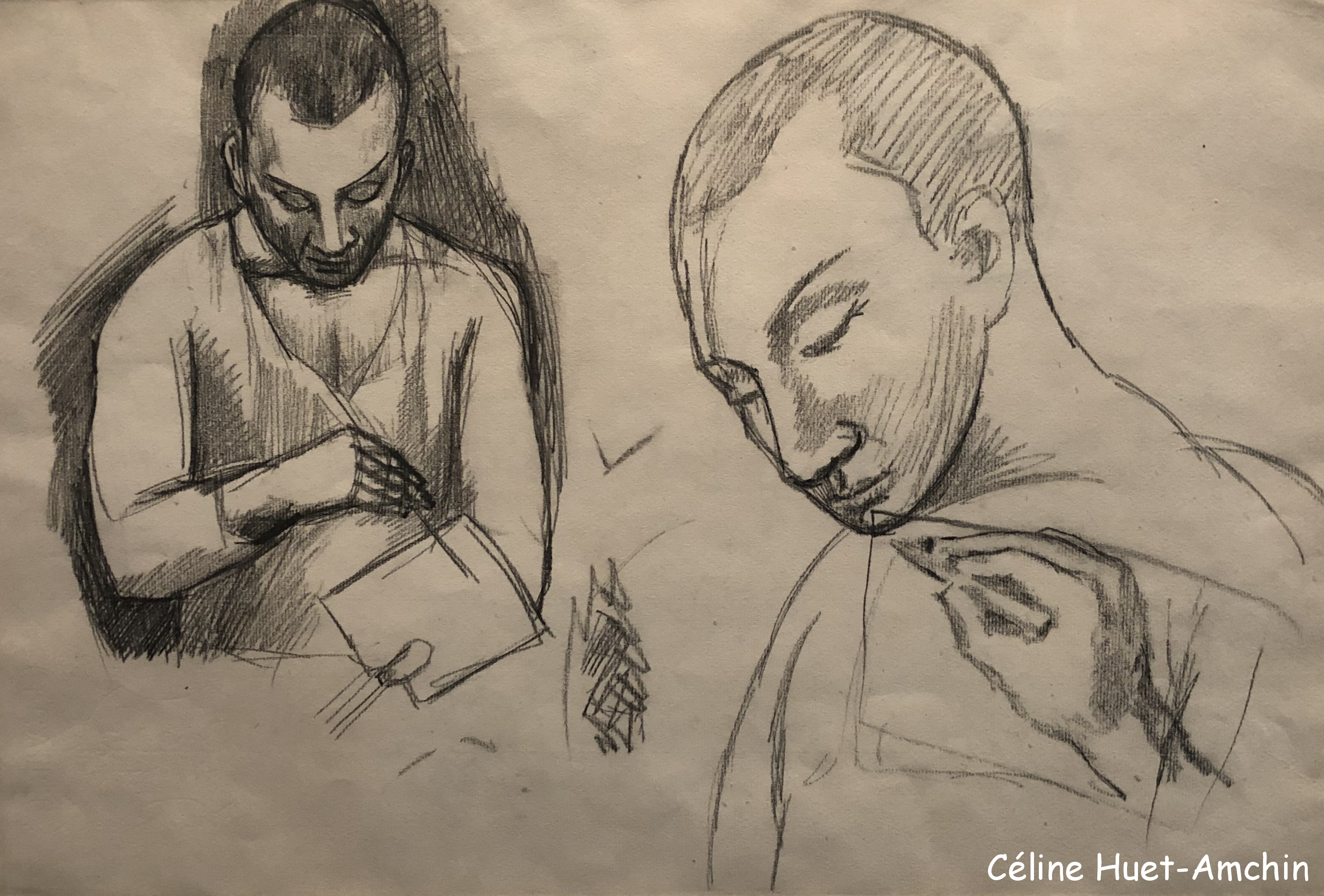 Etudes pour autoportrait Exposition Picasso bleu et rose Musée d'Orsay Paris