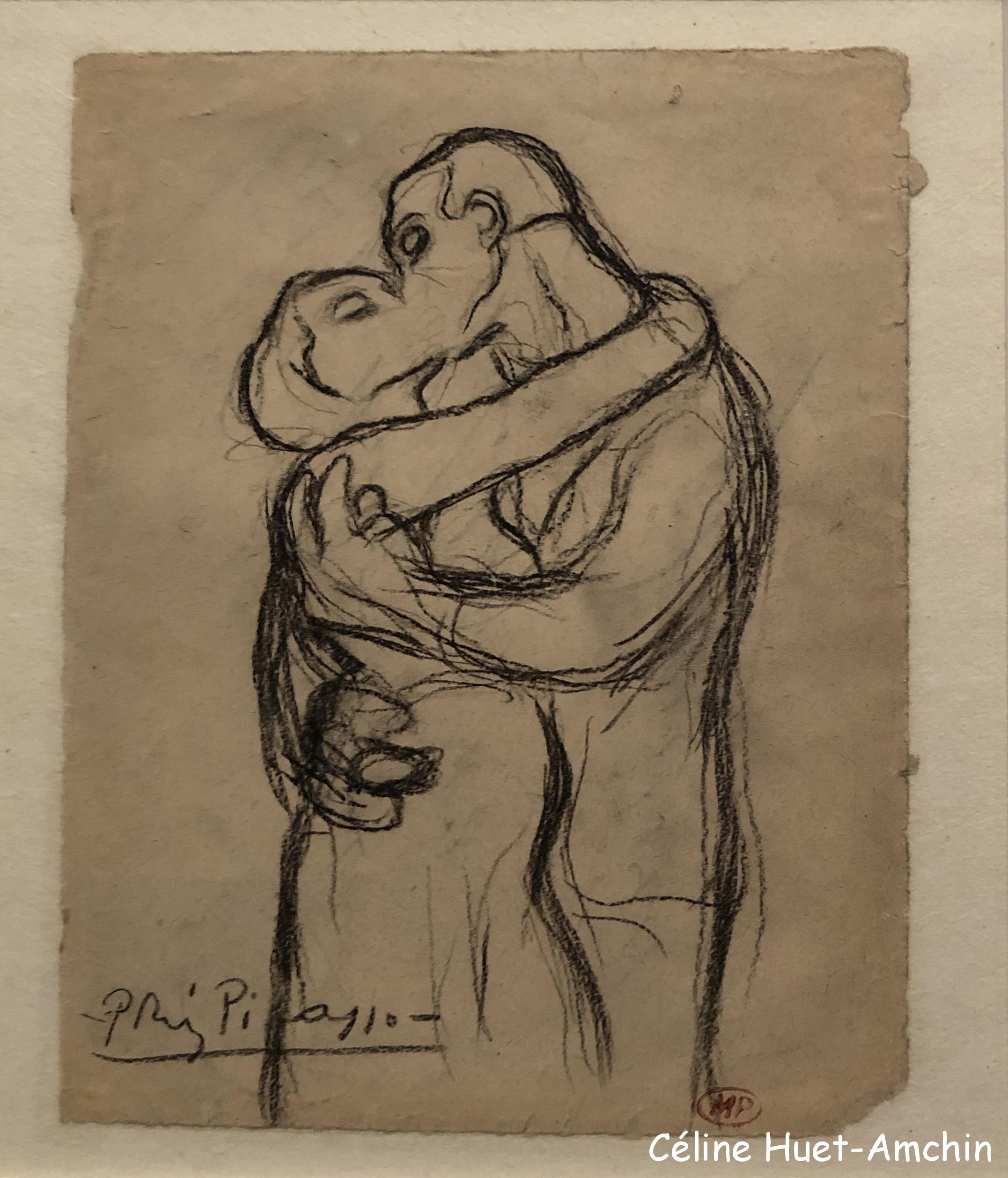 L'étreinte Exposition Picasso bleu et rose Musée d'Orsay Paris
