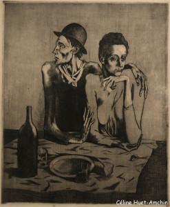 Le repas frugal Exposition Picasso bleu et rose Musée d'Orsay Paris