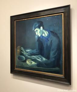 Le repas de l'aveugle Exposition Picasso bleu et rose Musée d'Orsay Paris