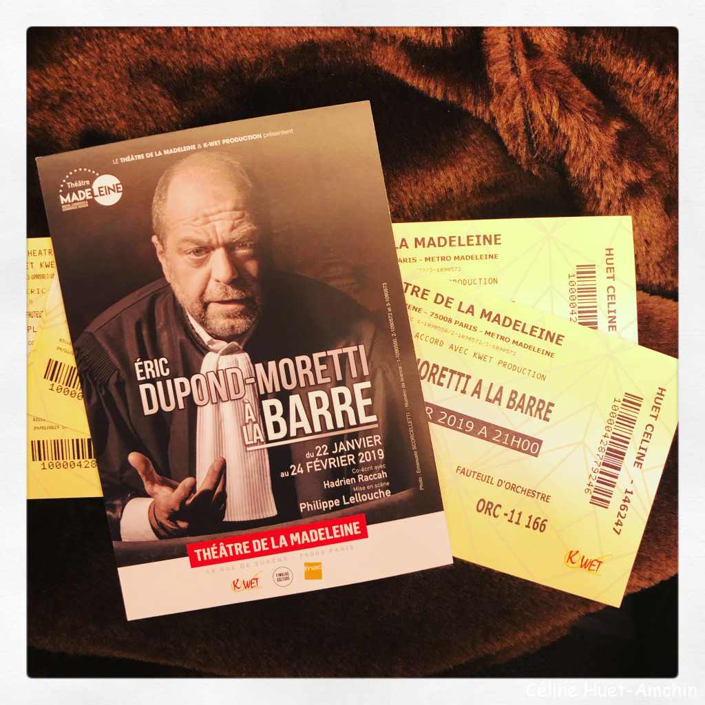 """""""Eric Dupont-Moretti à la barre"""" (Théâtre de la Madeleine, Paris)"""