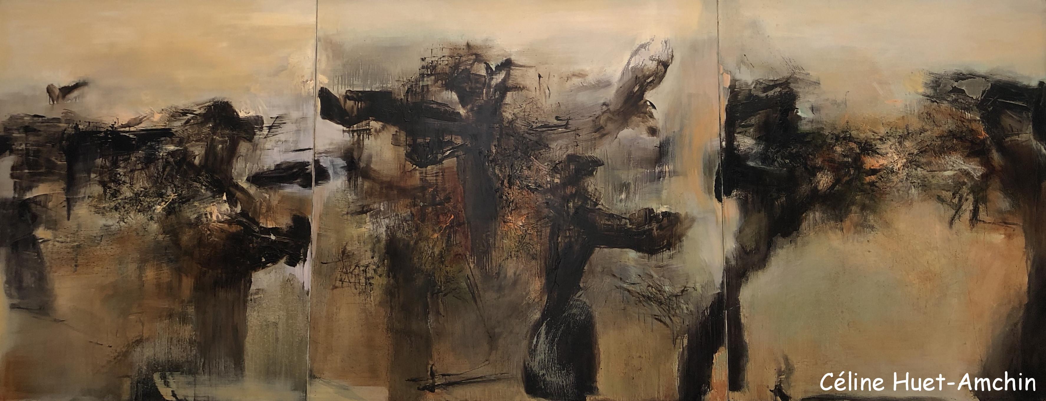 Hommage à André Malraux Triptyque 1976 Zao Wou-Ki L'espace est silence MAM Paris