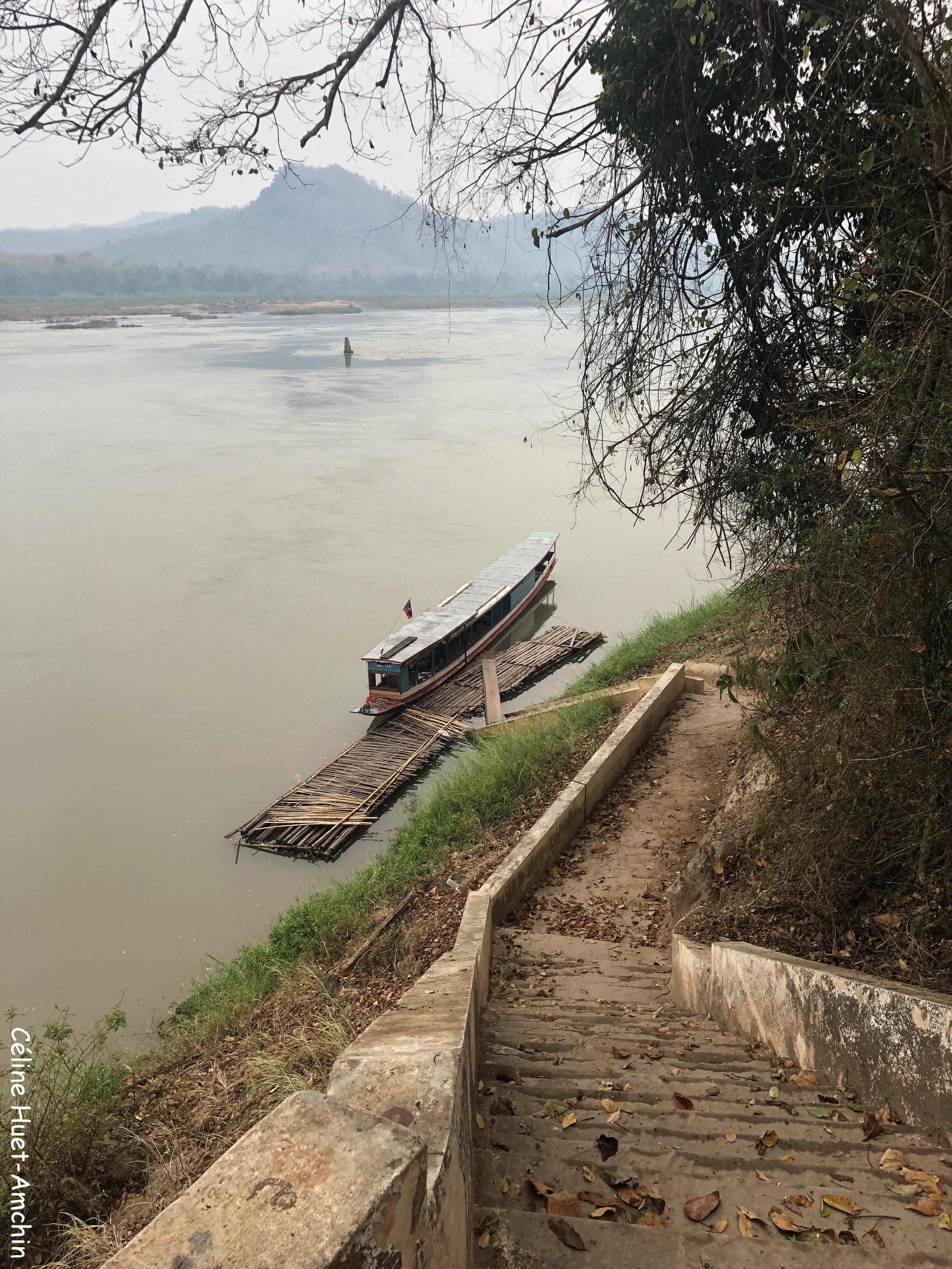Bateau retour vers Luang Prabang Laos Asie