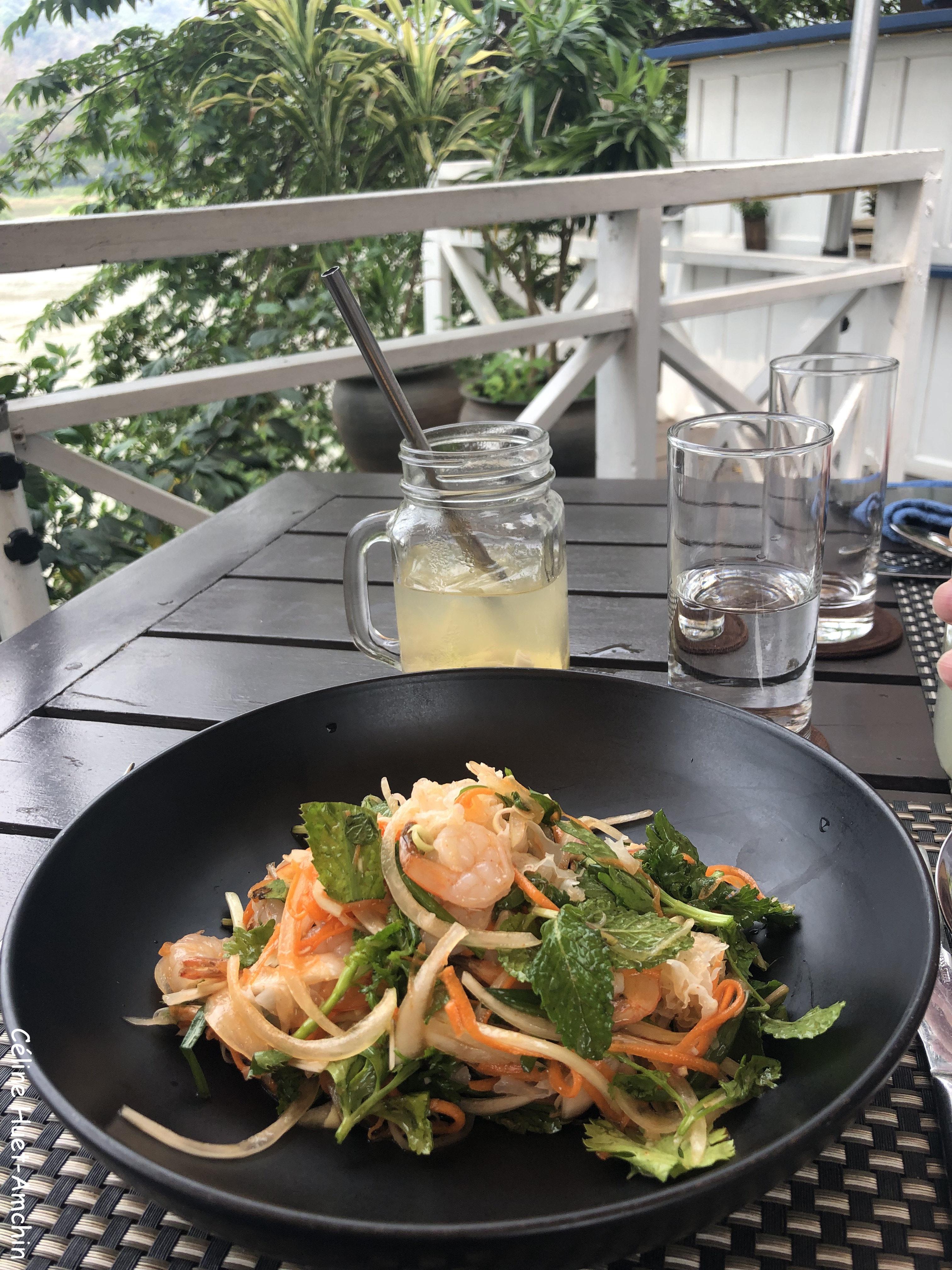 Luang Prabang Salad The Belle Rive terrace Hotel Luang Prabang Laos Asie