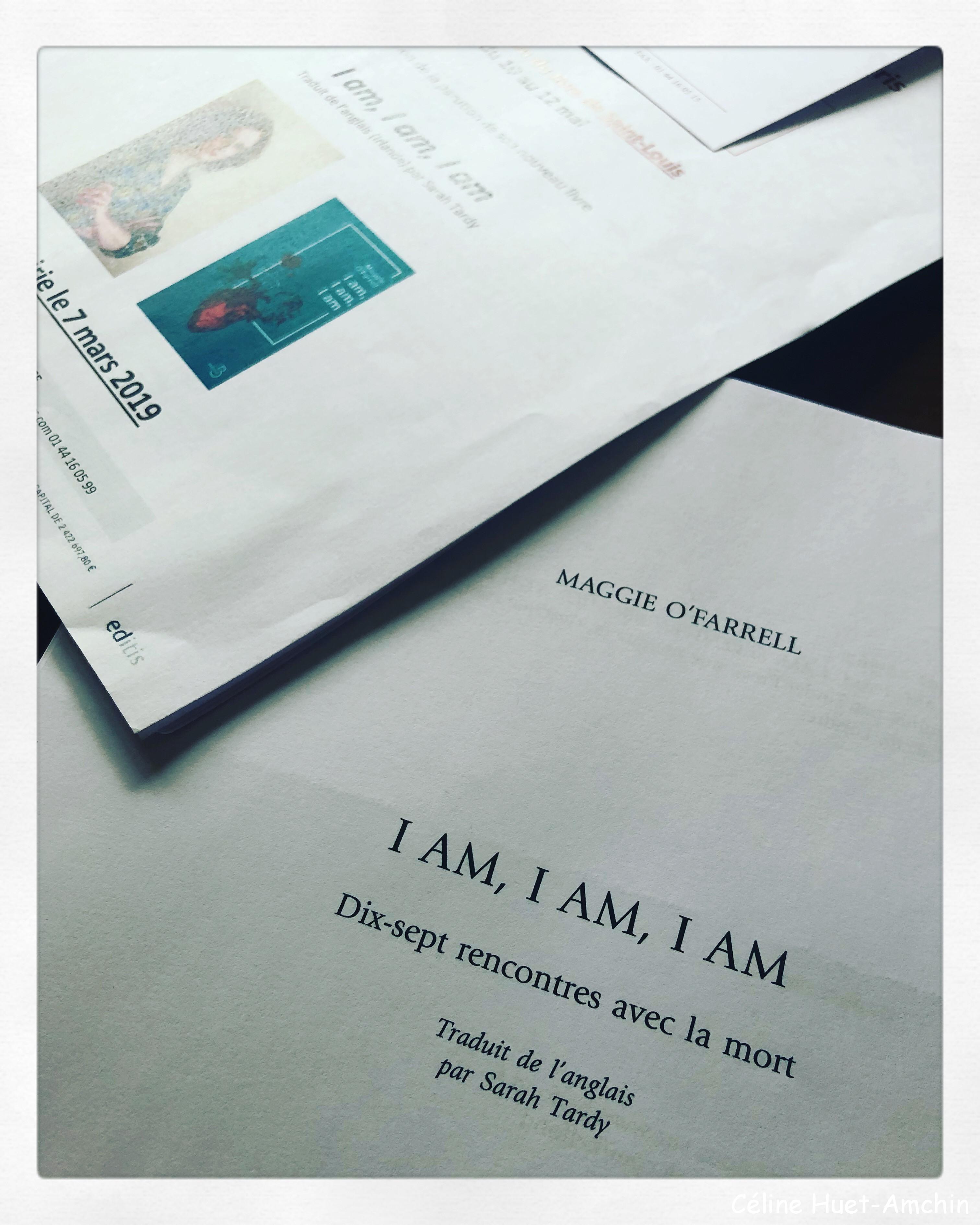 I am I am I am Maggie O'Farrell Editions Belfond