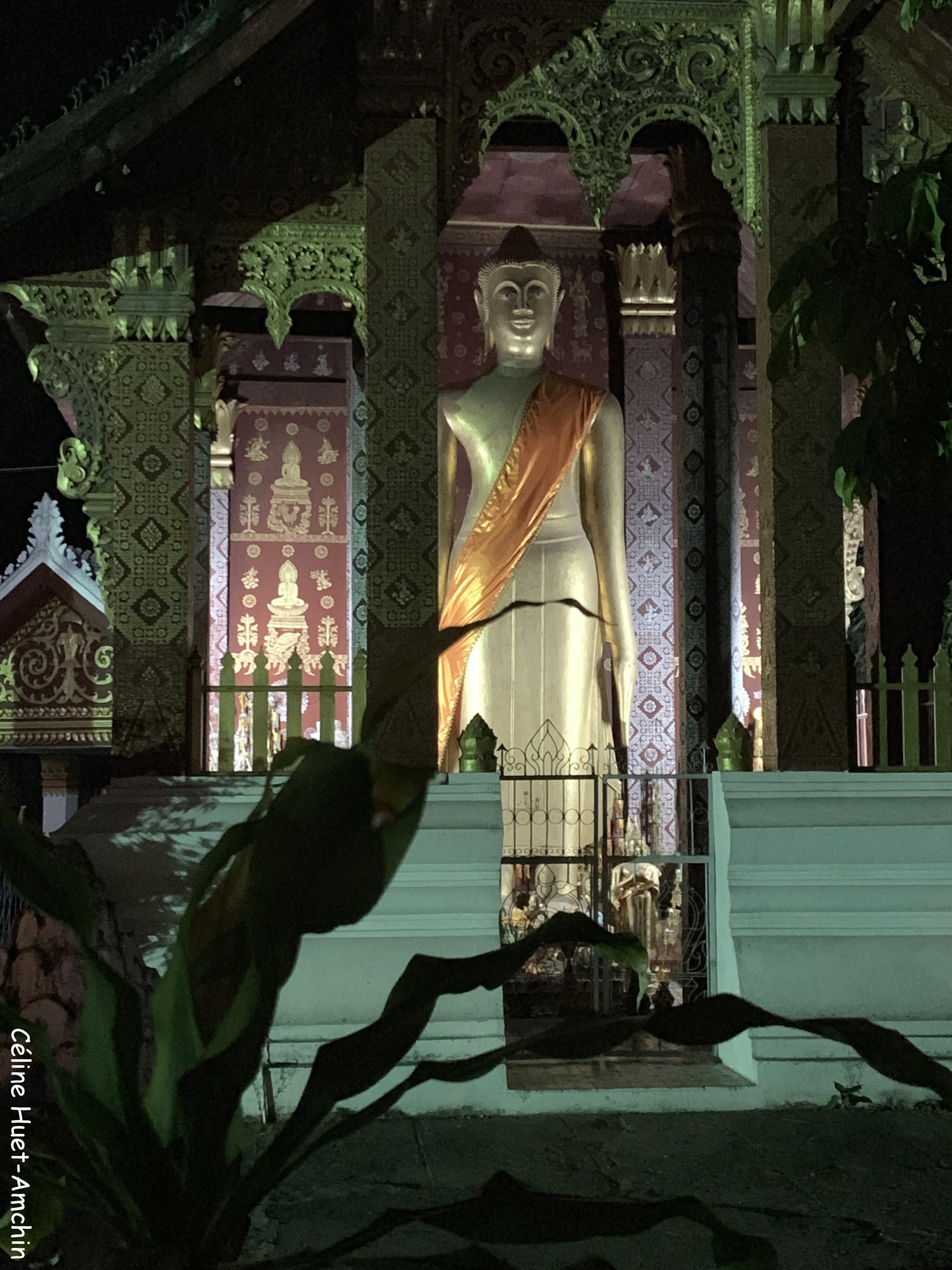 Bouddha debout Wat Sikhounmuang Luang Prabang Laos Asie