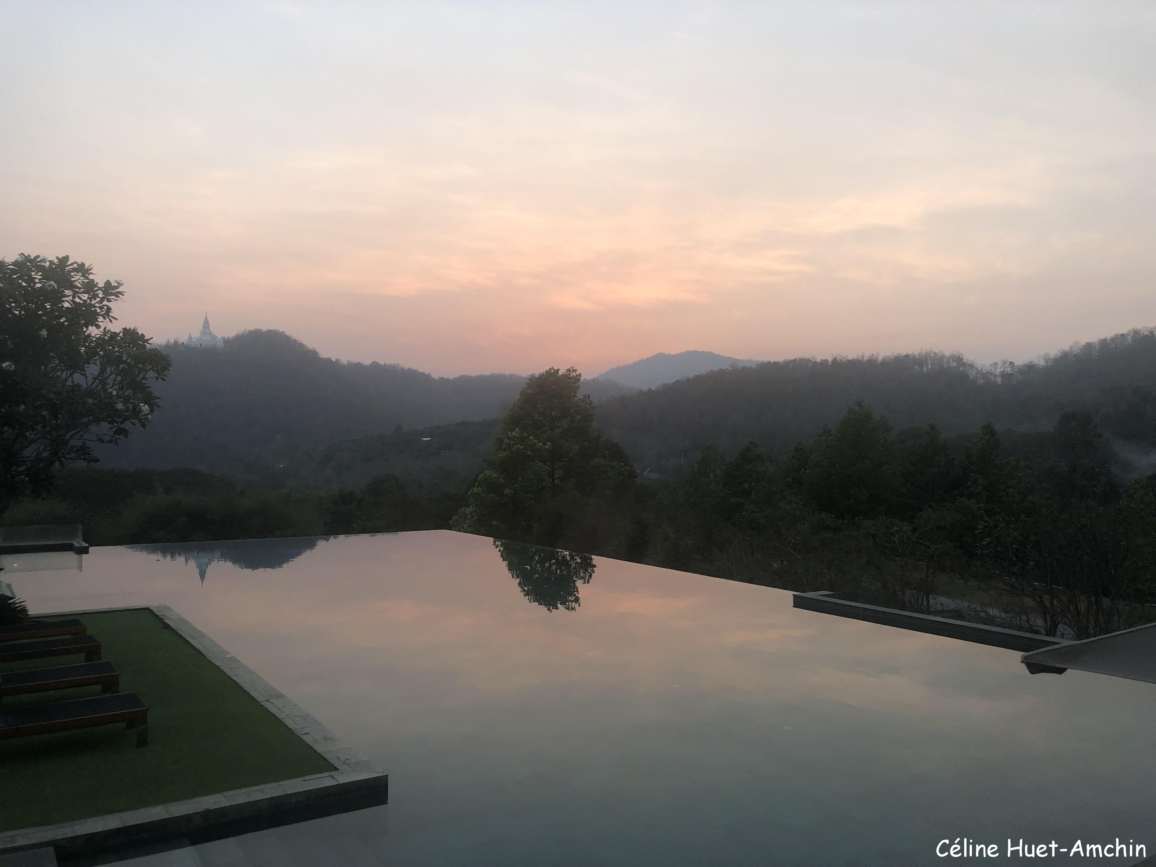 Coucher de soleil Hôtel Veranda High Resort Chiang Mai Hang Dong Thaïlande Asie