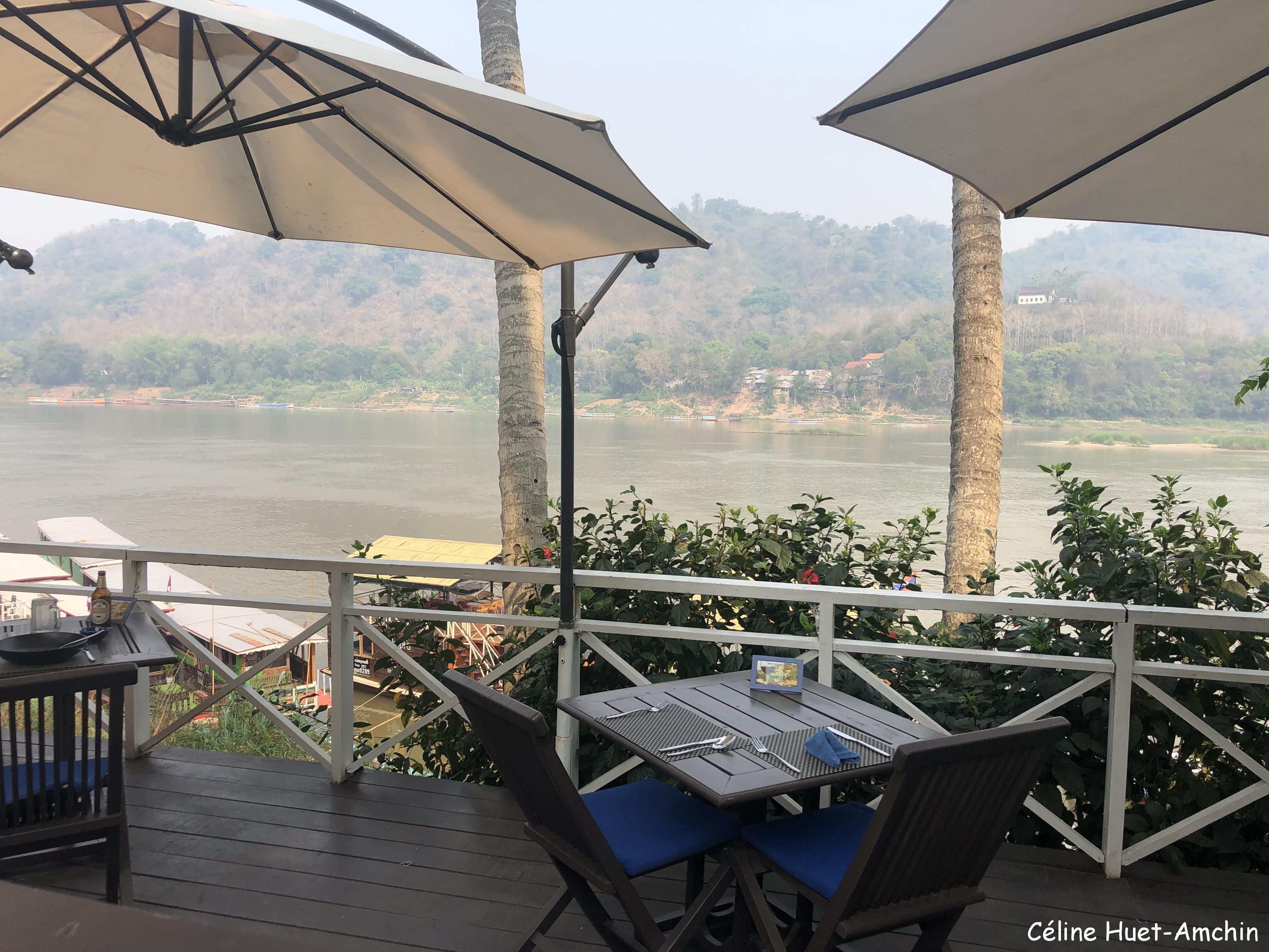 The Belle Rive Boutique Hotel terrace Luang Prabang Laos Asie