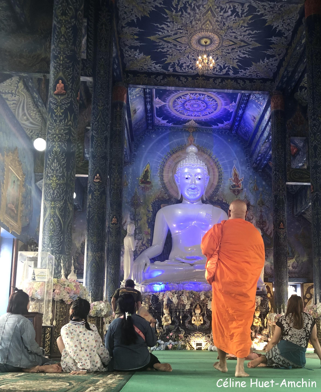 Blue Temple Wat Rong Suea Ten Province de Chiang Rai Thaïlande Asie