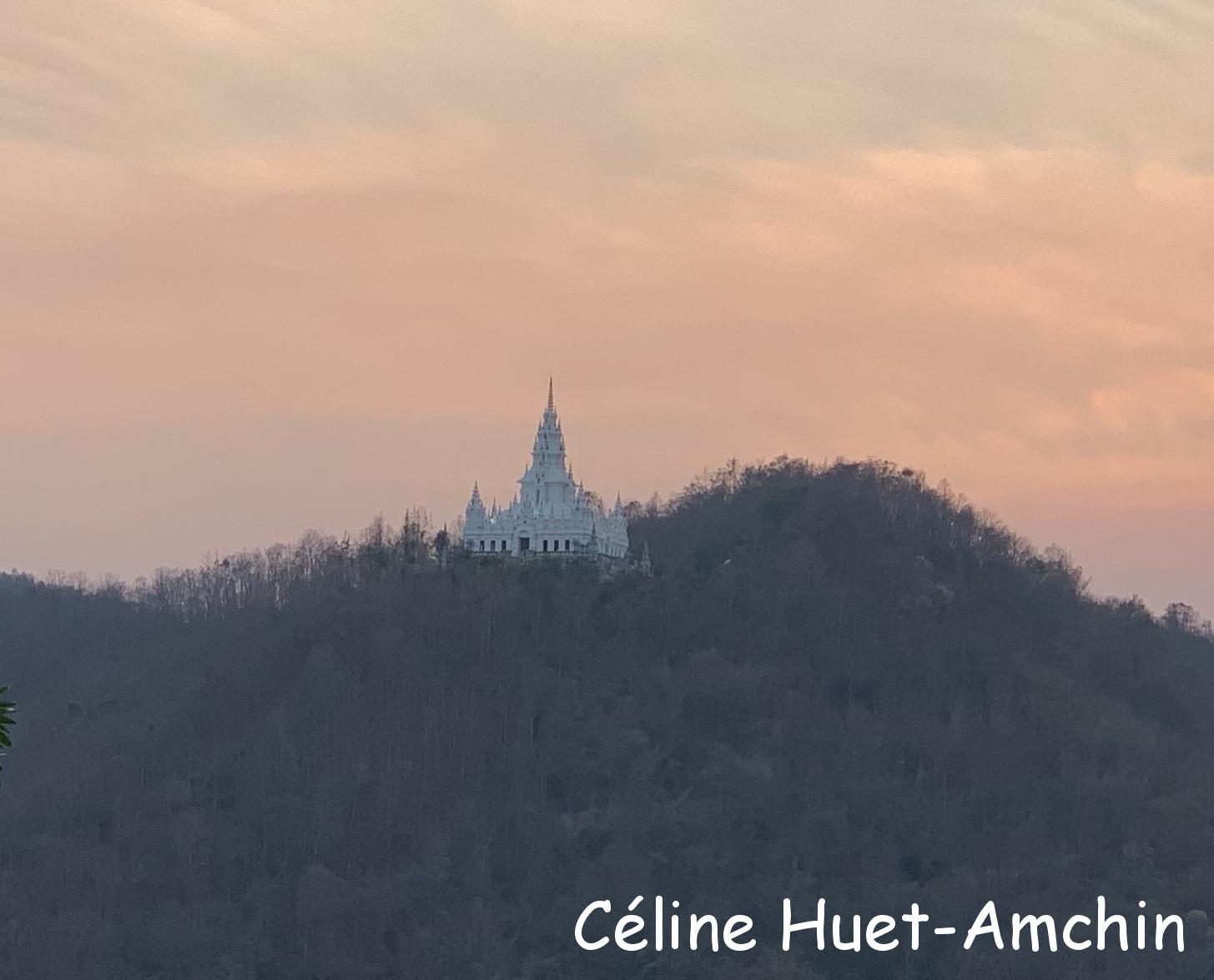 Pagode Wat Ban Pong Chiang Mai Hang Dong Thaïlande Asie