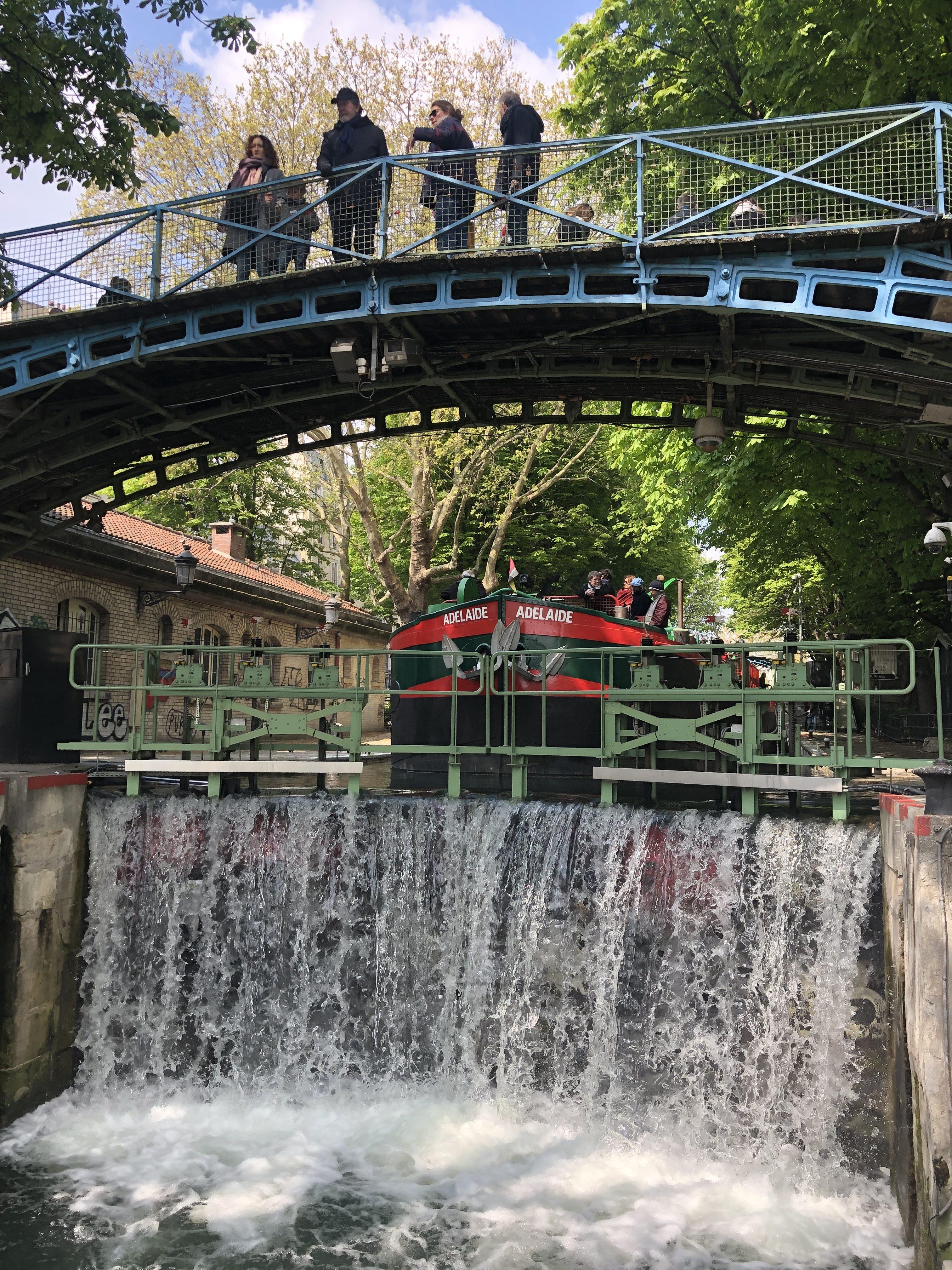 Ecluse Canal Saint-Martin Paris