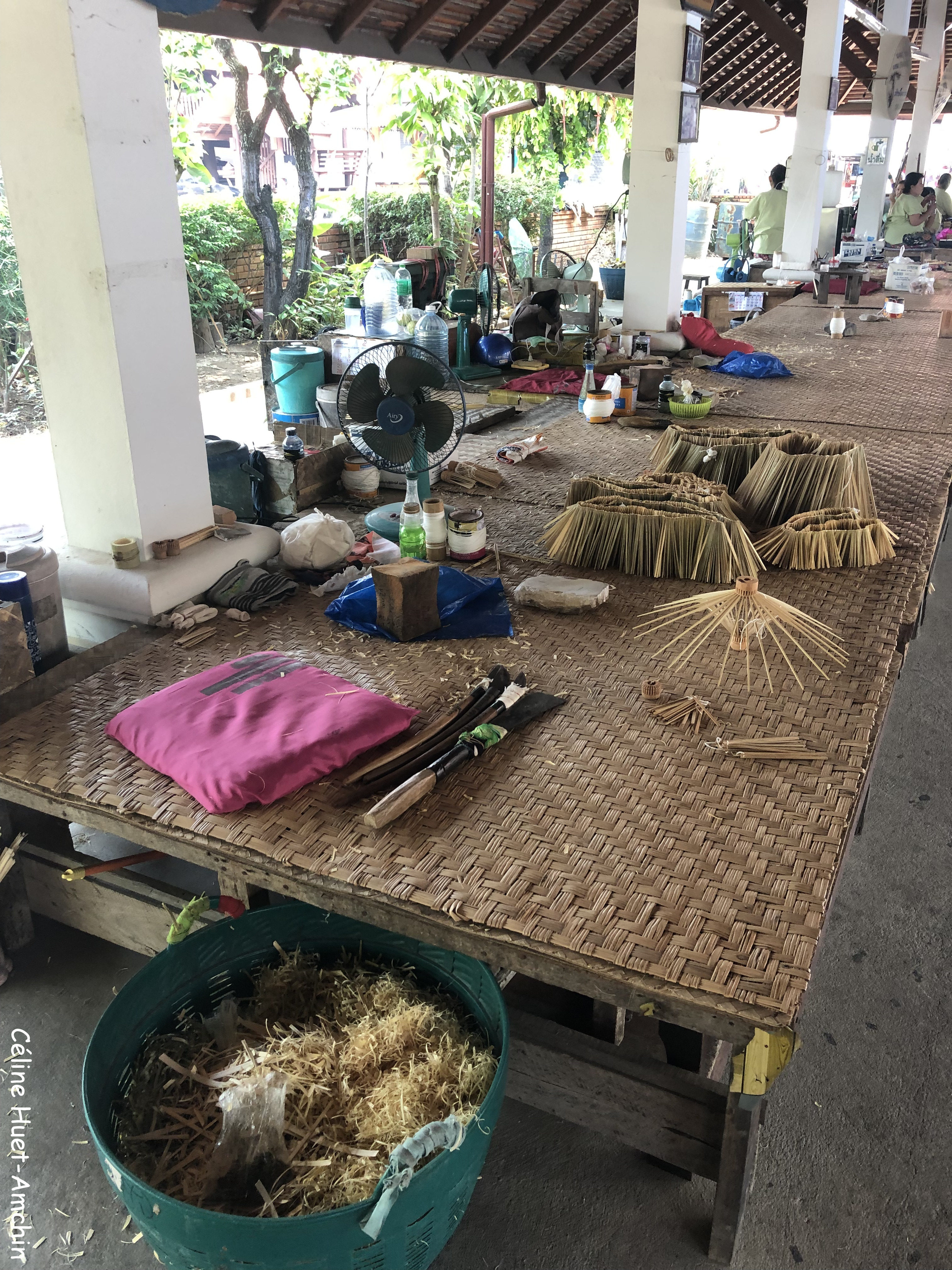 Fabrication ombrelles province de Chiang Mai Thaïlande Asie