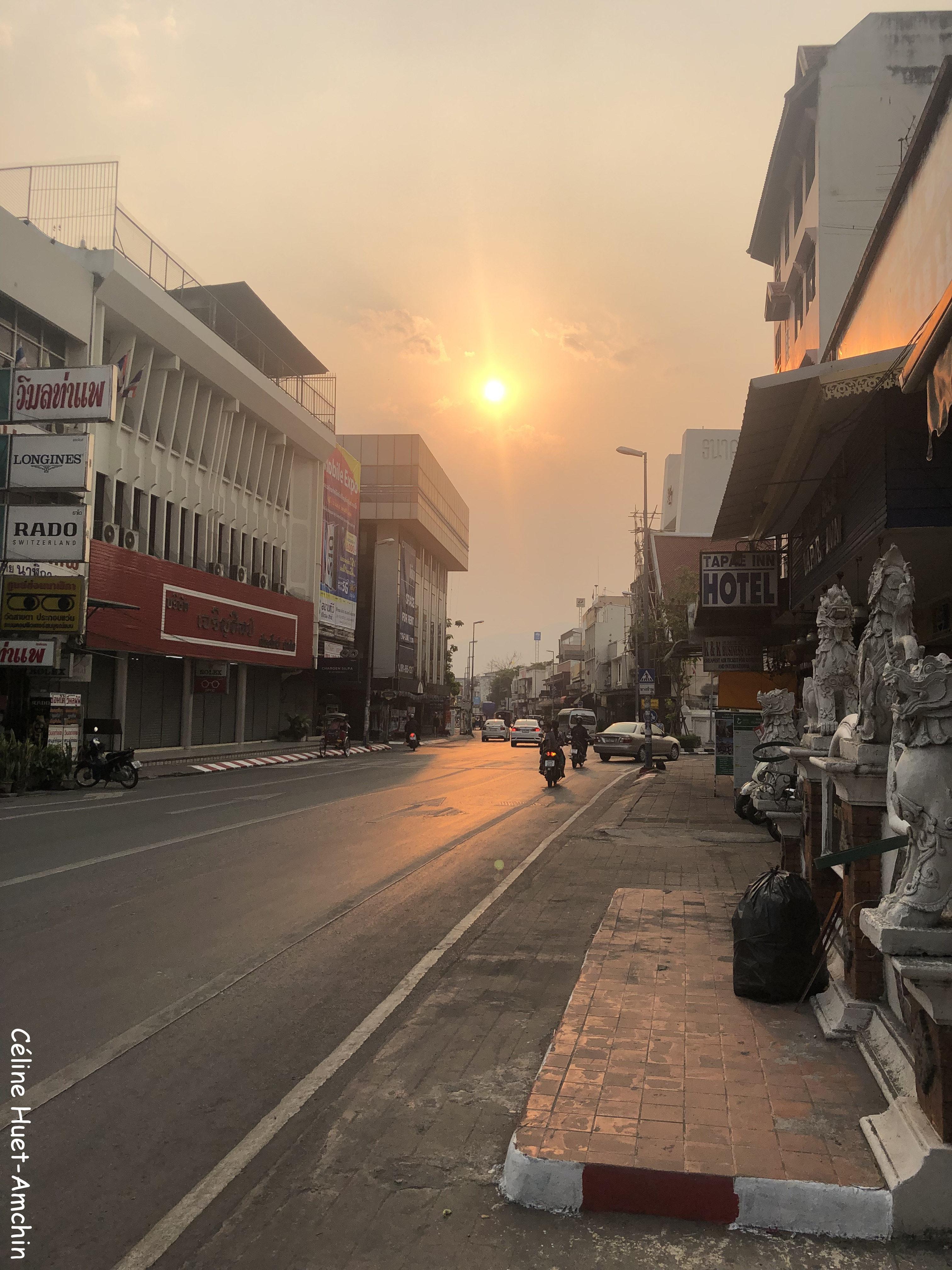 Coucher de soleil Chiang Mai Thaïlande Asie