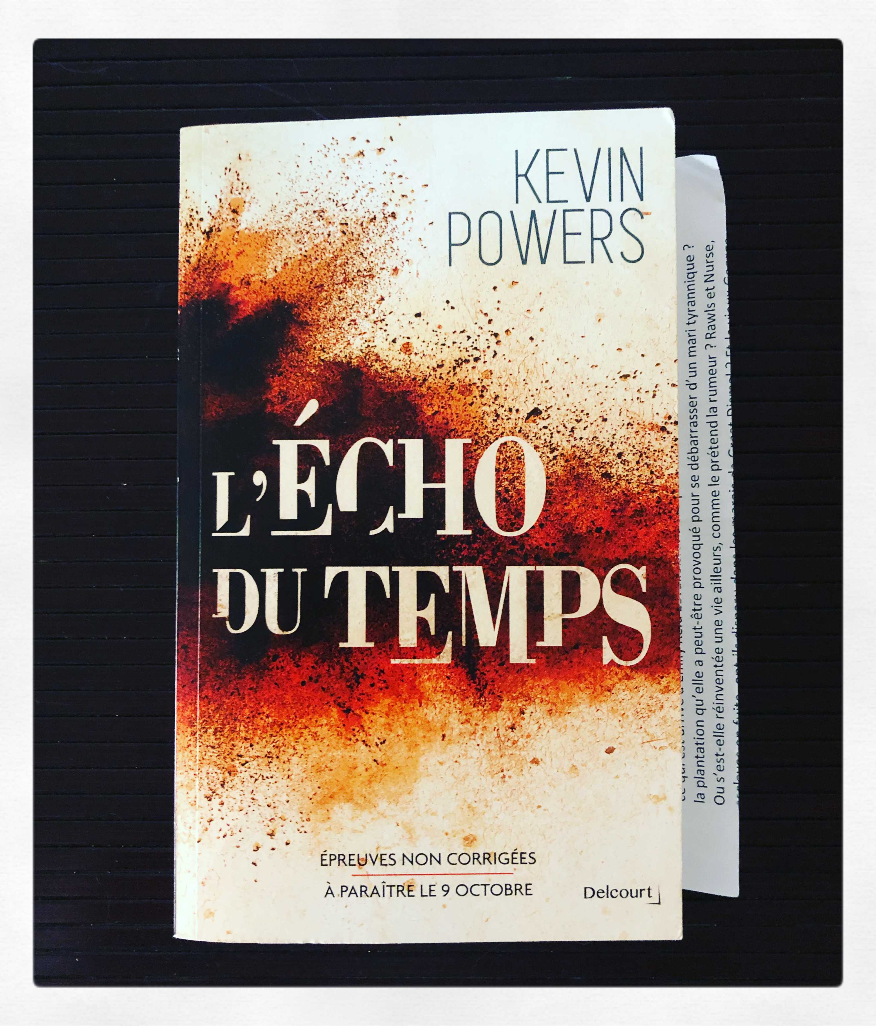 """L'écho du temps"" de Kevin Powers..."