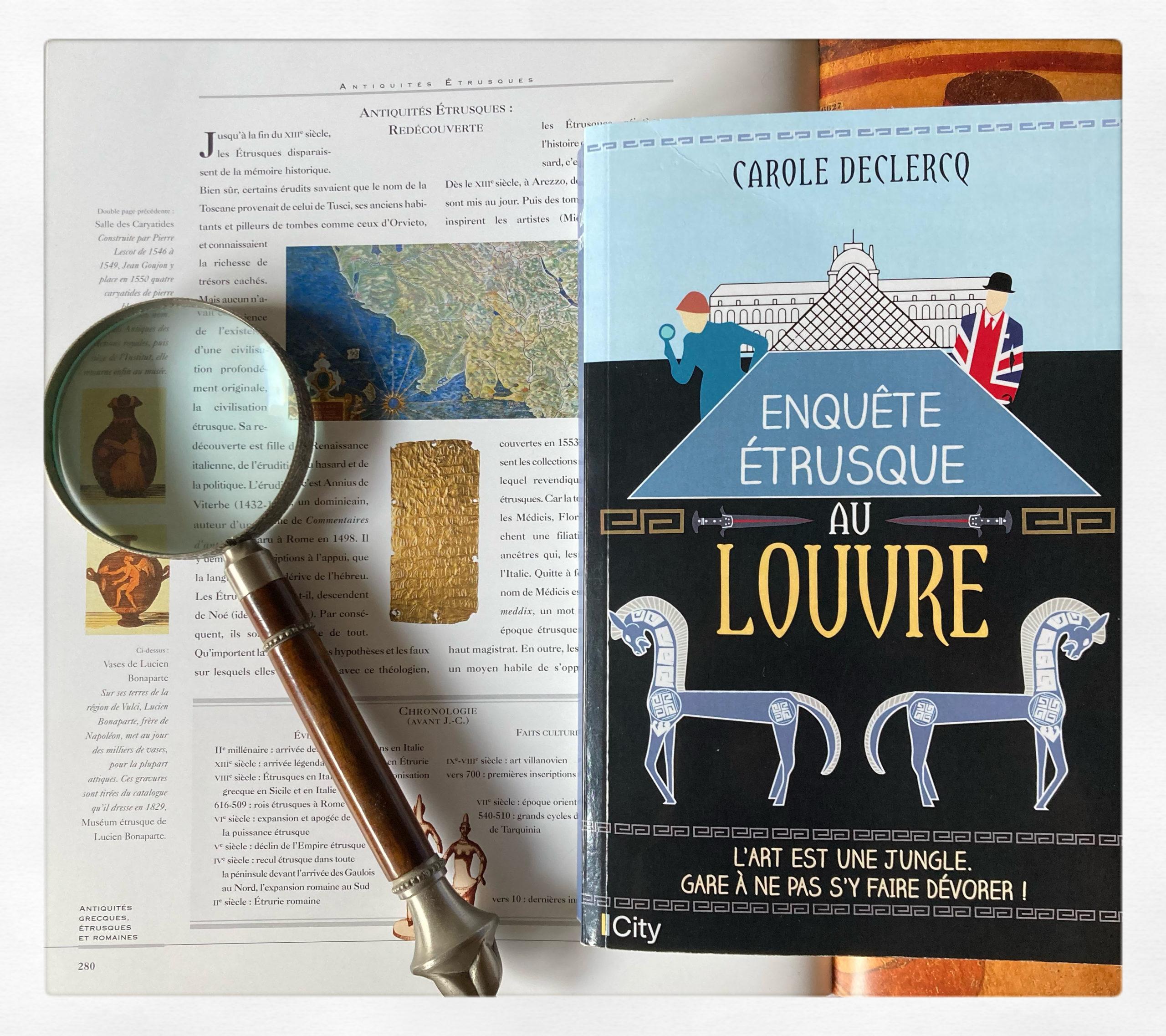 """""""Enquête étrusque au Louvre"""" de Carole Declercq..."""