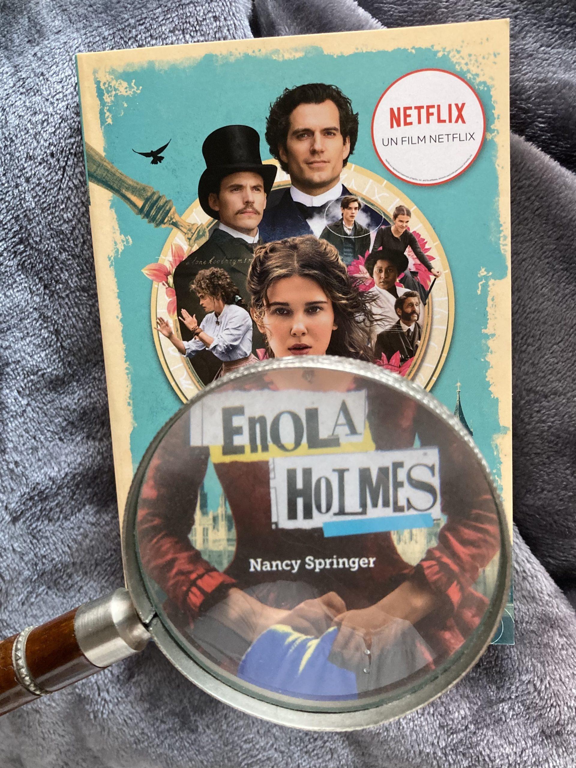 """""""Les enquêtes d'Enola Holmes 1. La double disparition"""" de Nancy Springer..."""