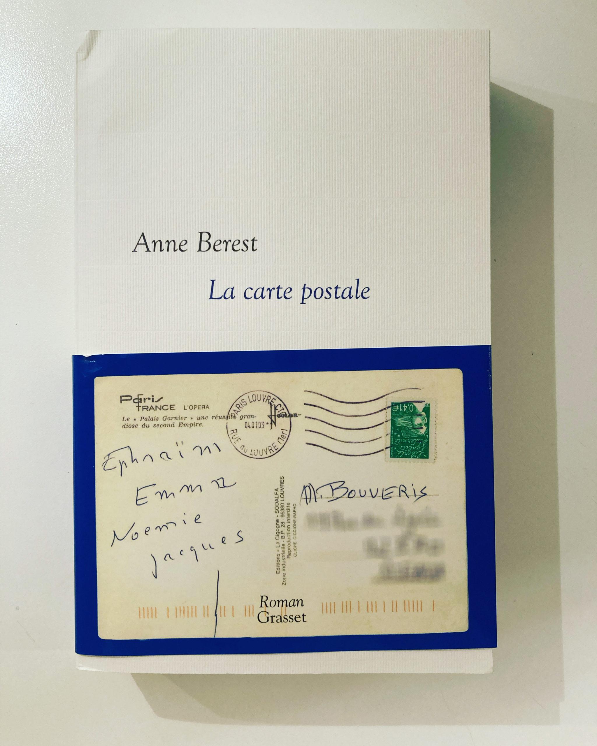 """""""La carte postale"""" d'Anne Berest..."""